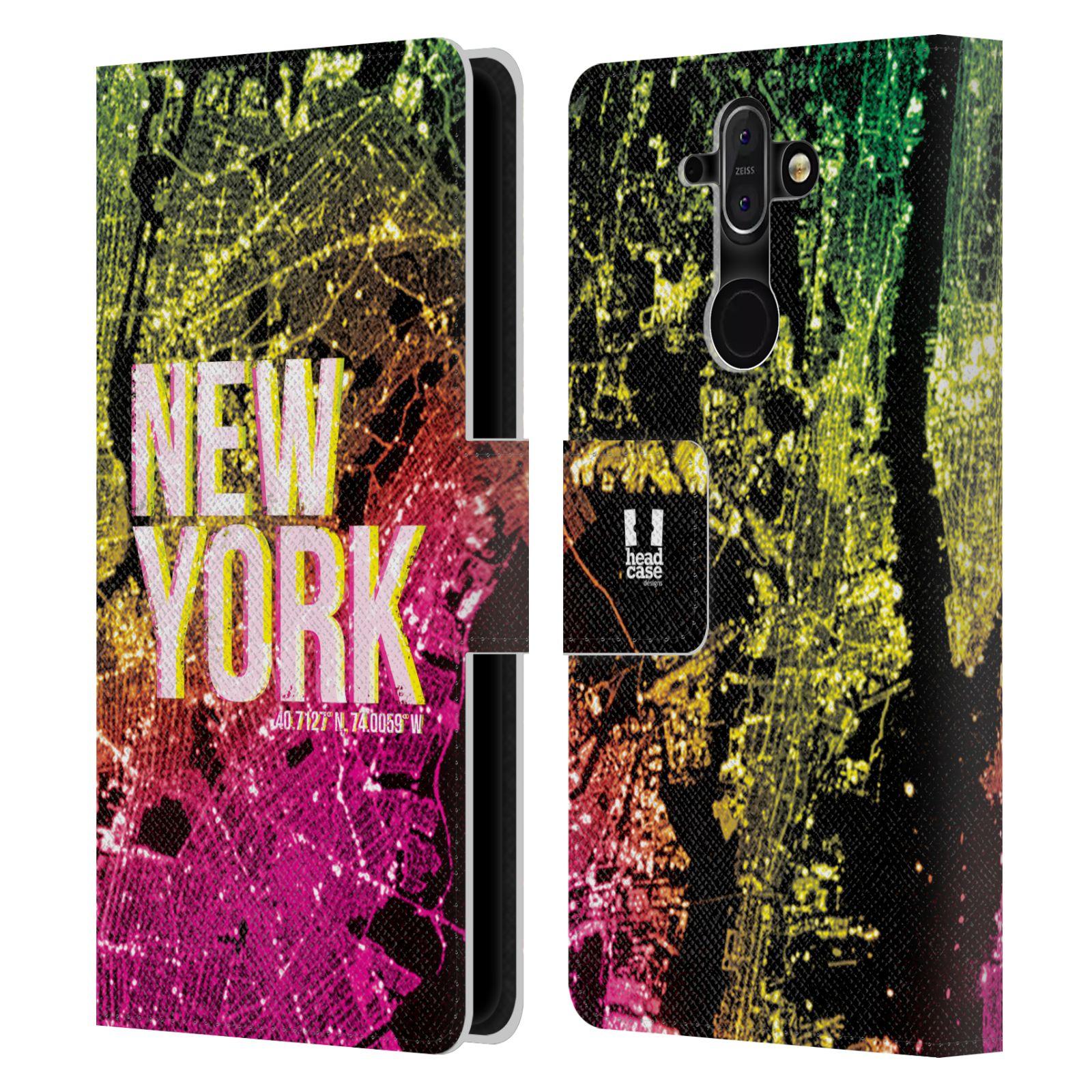 Pouzdro na mobil Nokia 8 Sirocco - Head Case - NEW YORK pohled z vesmíru
