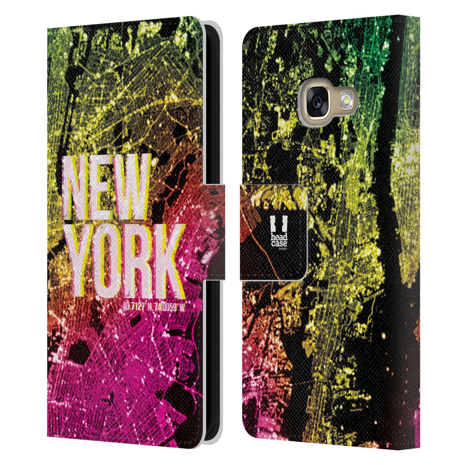 Pouzdro na mobil Samsung Galaxy A3 2017 - Head Case - NEW YORK pohled z vesmíru