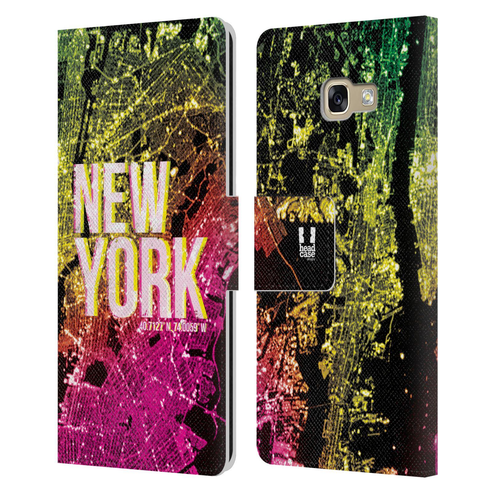 Pouzdro na mobil Samsung Galaxy A5 2017 - Head Case - NEW YORK pohled z vesmíru