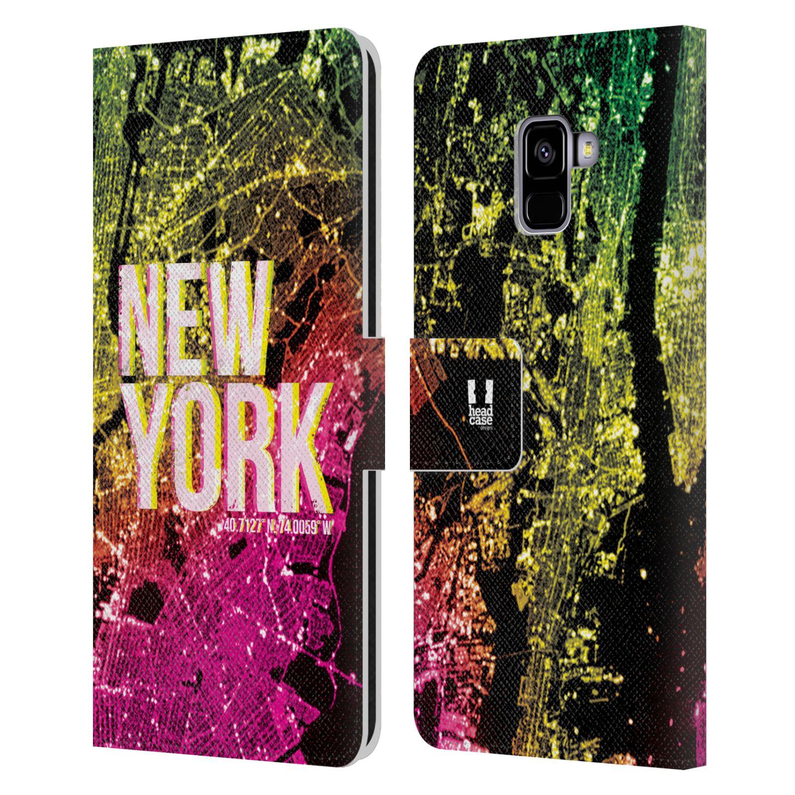 Pouzdro na mobil Samsung Galaxy A8 PLUS 2018 - Head Case - NEW YORK pohled z vesmíru