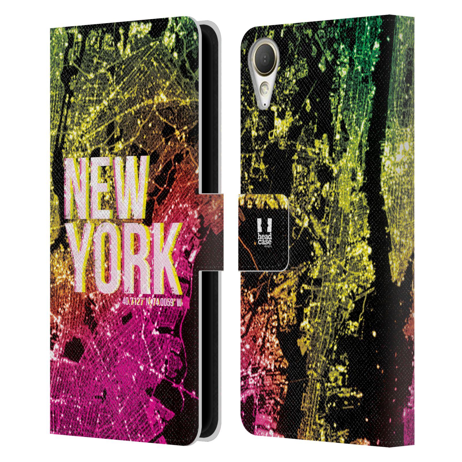 Pouzdro na mobil HTC Desire 10 Lifestyle - Head Case - NEW YORK pohled z vesmíru