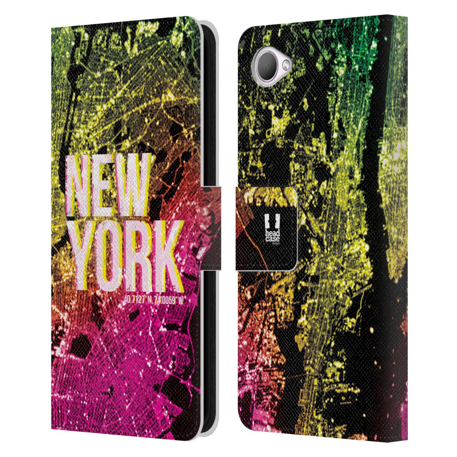 Pouzdro na mobil HTC Desire 12 - Head Case - NEW YORK pohled z vesmíru