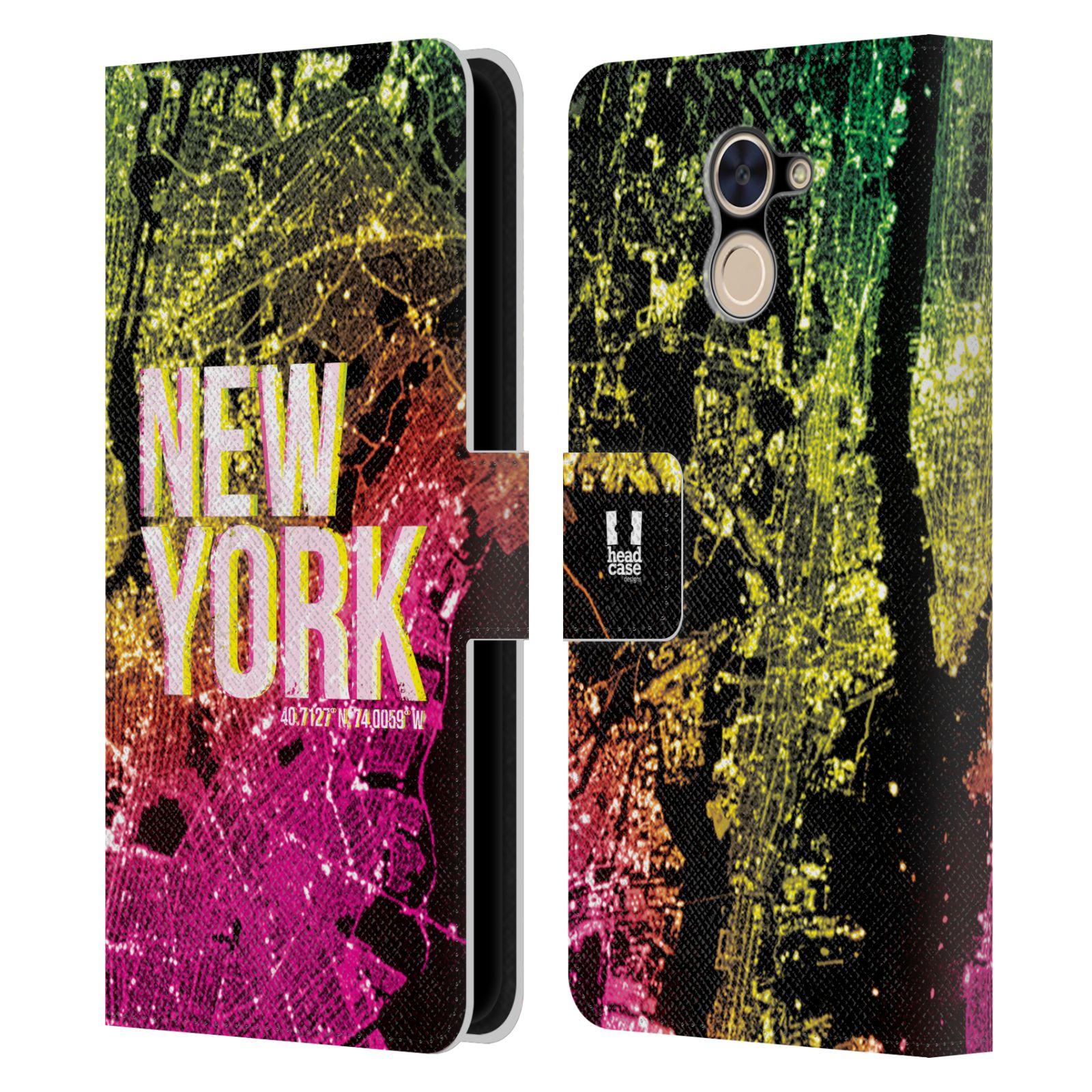 Pouzdro na mobil Huawei Y7 / Y7 Prime - Head Case - NEW YORK pohled z vesmíru