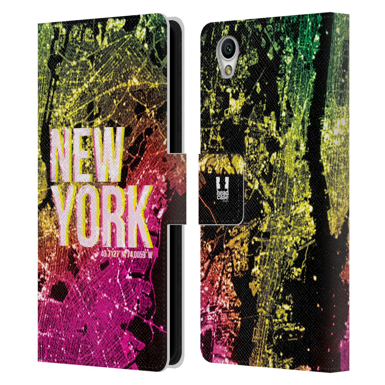 Pouzdro na mobil Sony Xperia L1 - Head Case - NEW YORK pohled z vesmíru