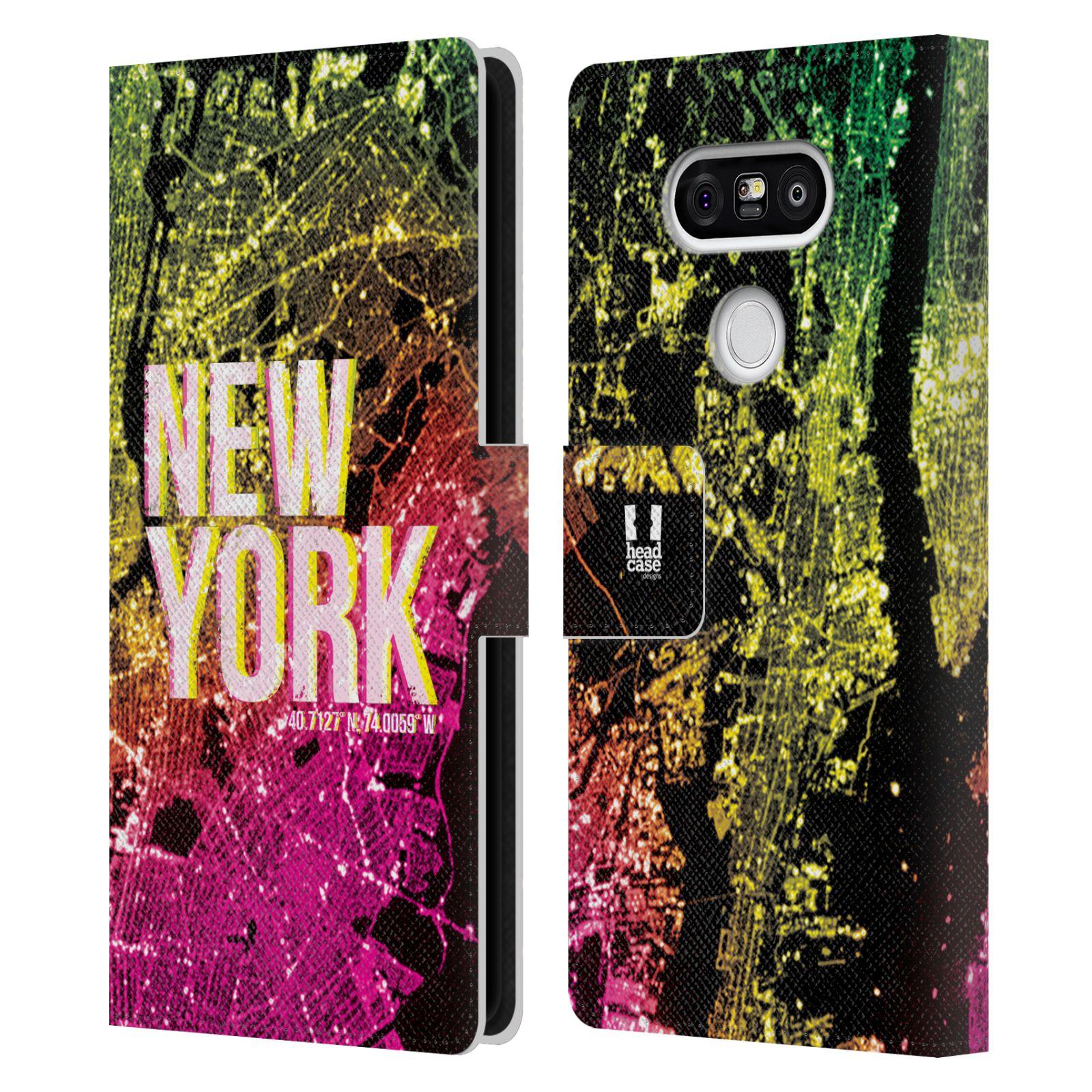 Pouzdro na mobil LG G5 - Head Case - NEW YORK pohled z vesmíru