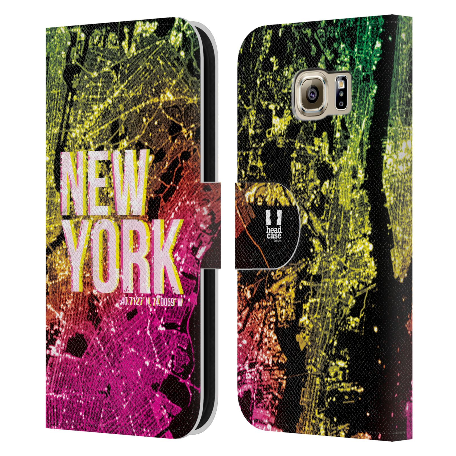 Pouzdro na mobil Samsung Galaxy S6 - Head Case - NEW YORK pohled z vesmíru