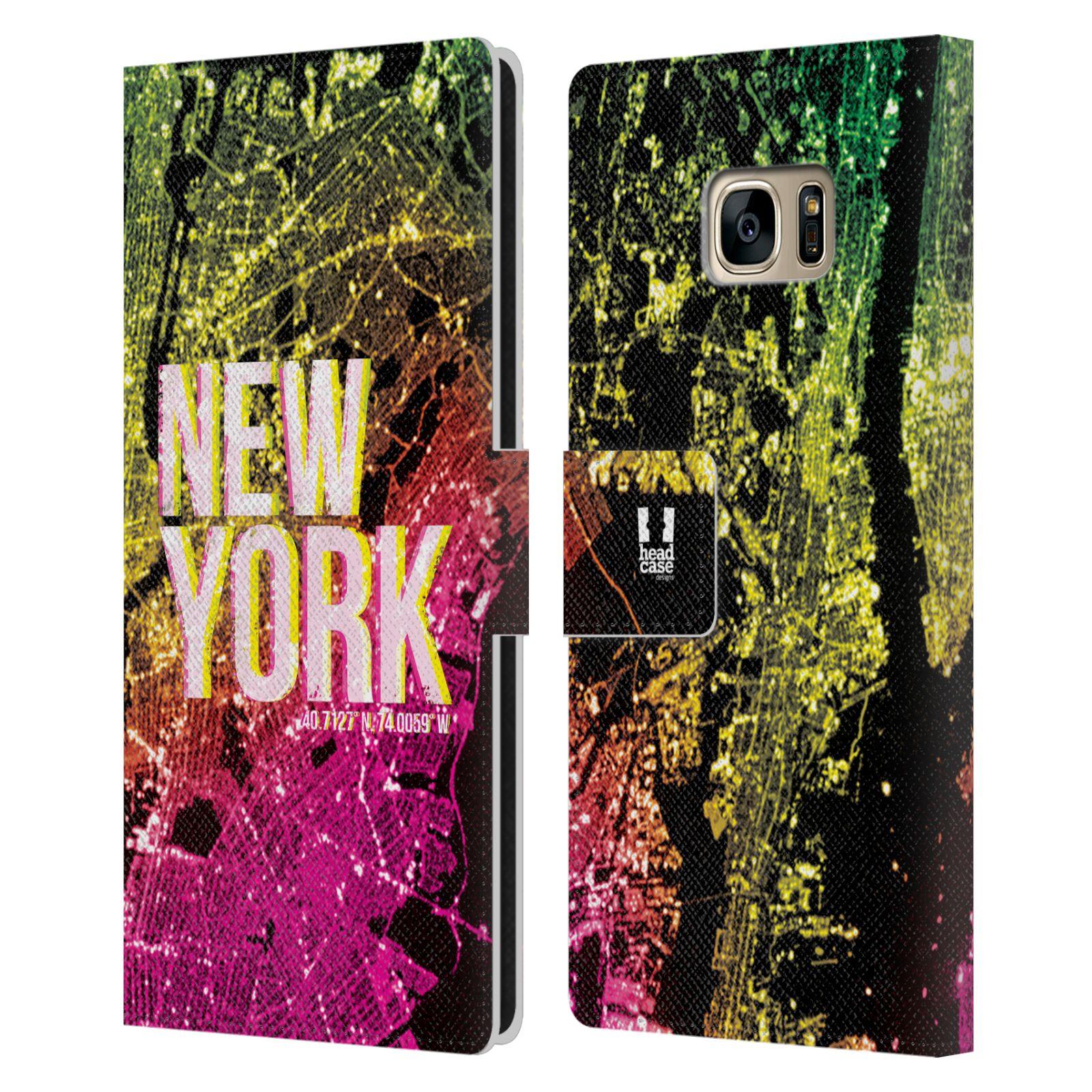 Pouzdro na mobil Samsung Galaxy S7 Edge - Head Case - NEW YORK pohled z vesmíru