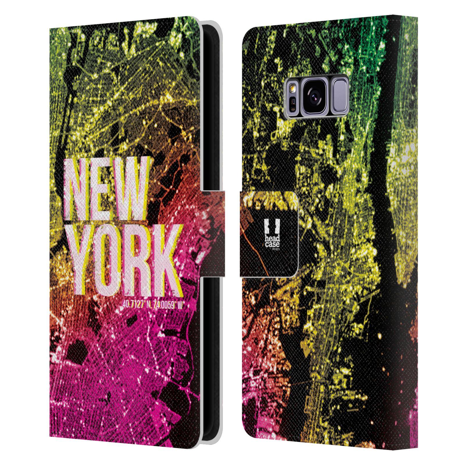 Pouzdro na mobil Samsung Galaxy S8 - Head Case - NEW YORK pohled z vesmíru