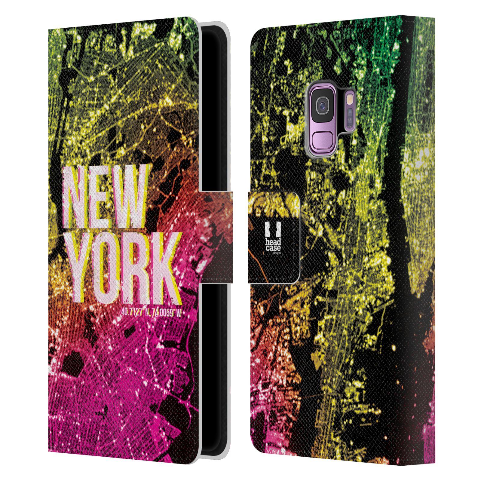 Pouzdro na mobil Samsung Galaxy S9 - Head Case - NEW YORK pohled z vesmíru