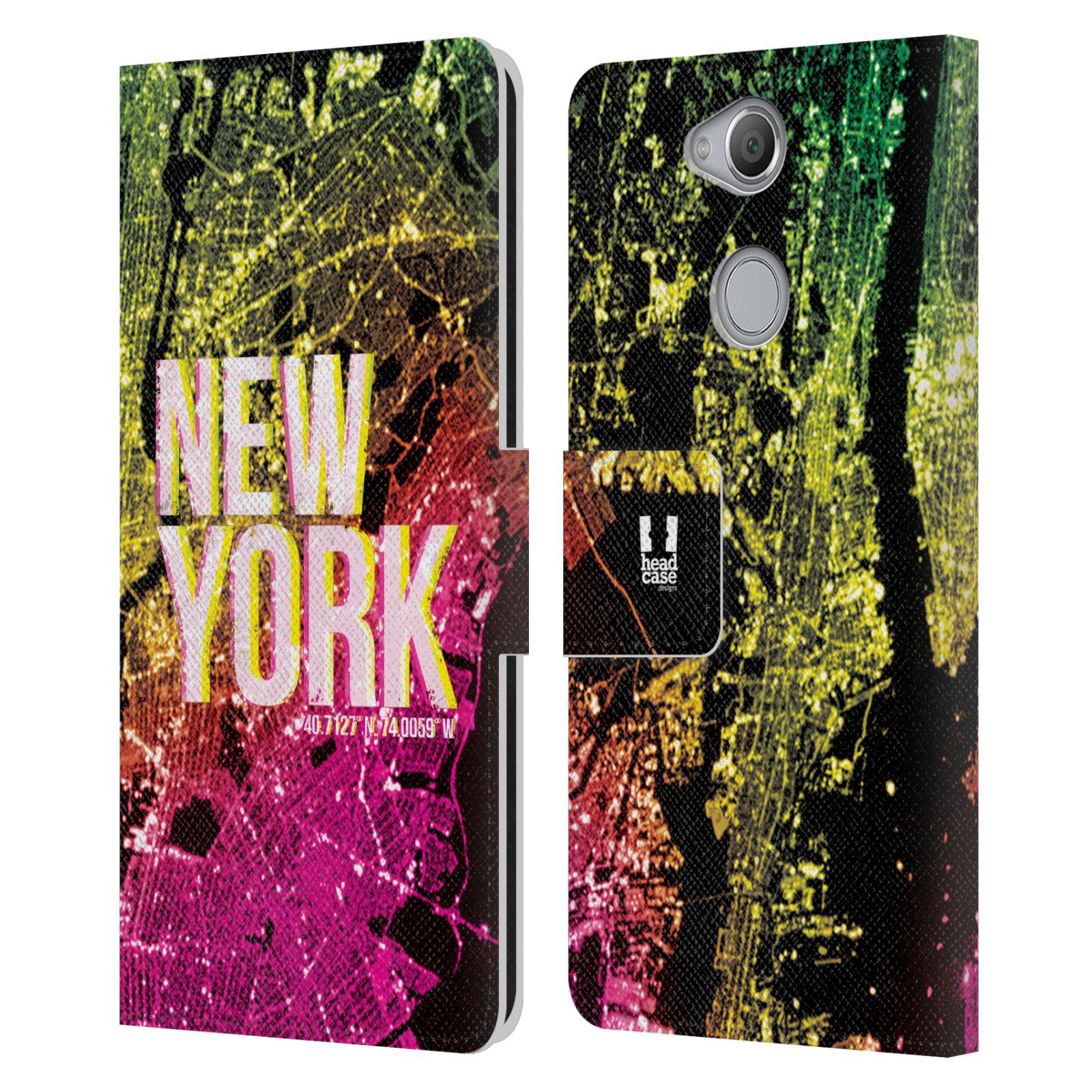 Pouzdro na mobil Sony Xperia XA2 - Head Case - NEW YORK pohled z vesmíru