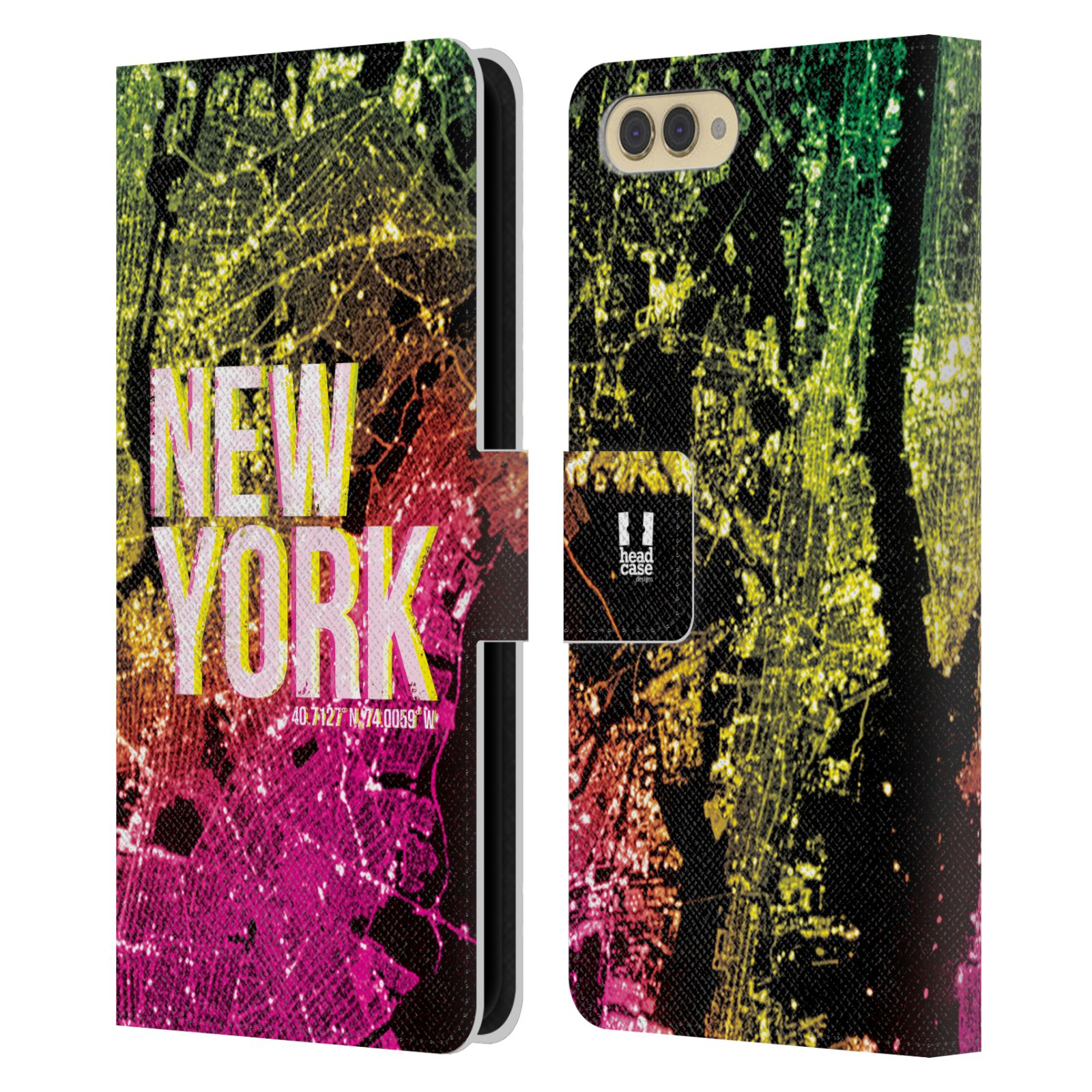 Pouzdro na mobil Honor  View 10 / V10 - Head Case - NEW YORK pohled z vesmíru