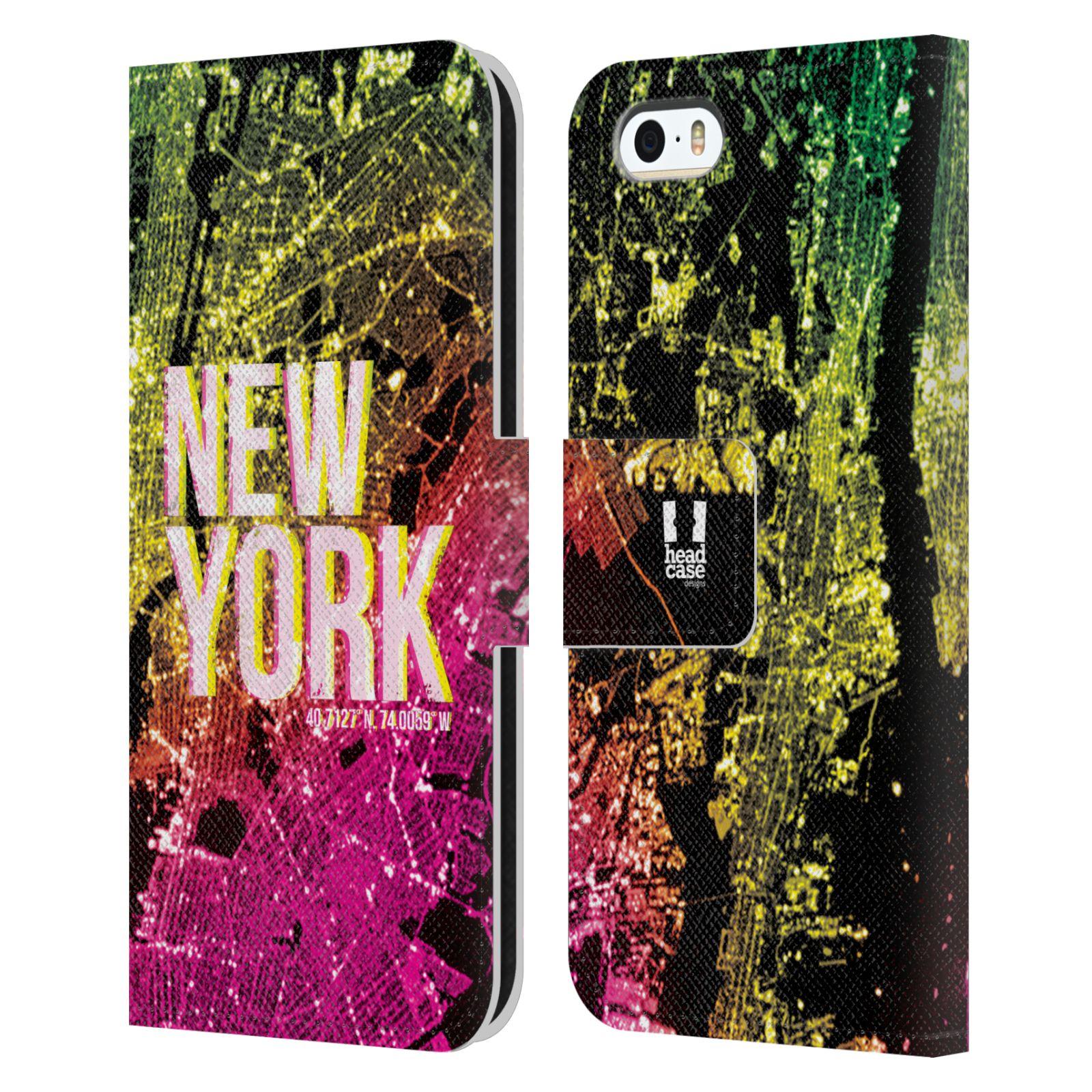Pouzdro na mobil Apple Iphone 5 / 5S - Head Case - NEW YORK pohled z vesmíru
