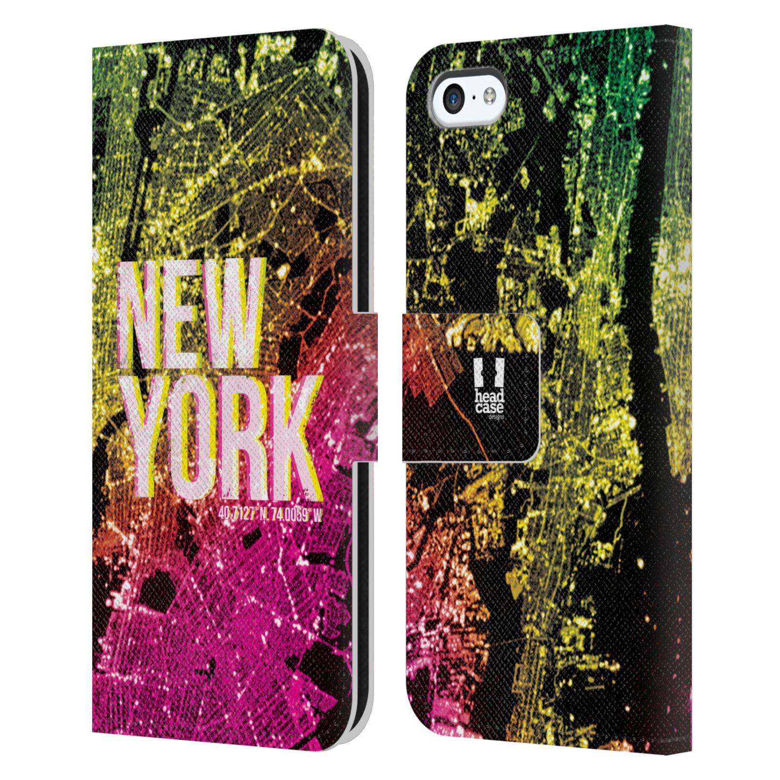 Pouzdro na mobil Apple Iphone 5C - Head Case - NEW YORK pohled z vesmíru