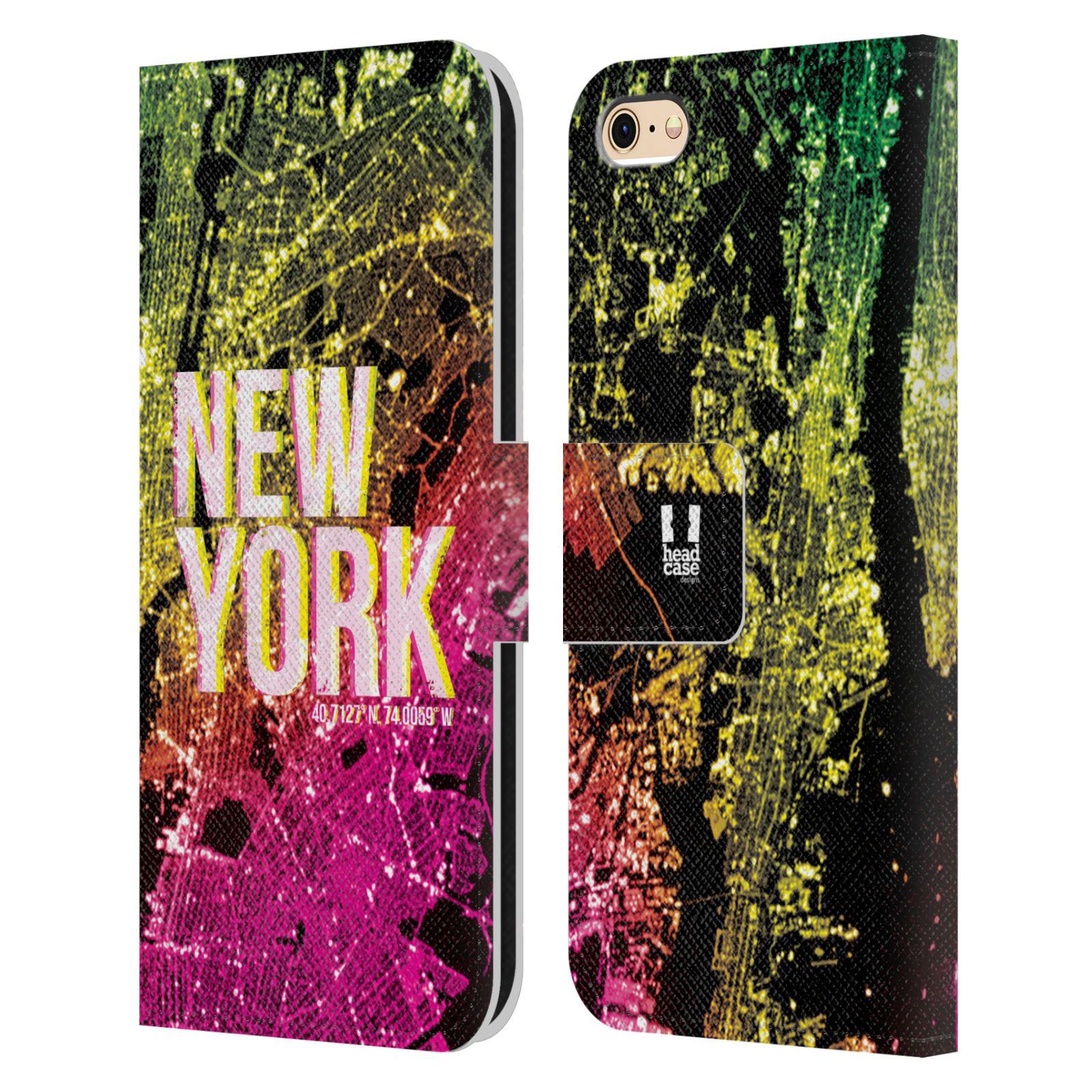 Pouzdro na mobil Apple Iphone 6 / 6S - Head Case - NEW YORK pohled z vesmíru
