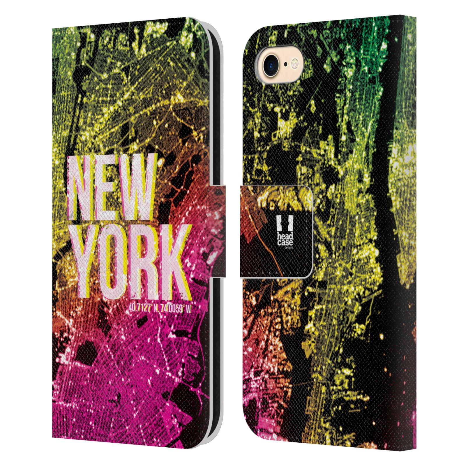 Pouzdro na mobil Apple Iphone 7 / 8 - Head Case - NEW YORK pohled z vesmíru