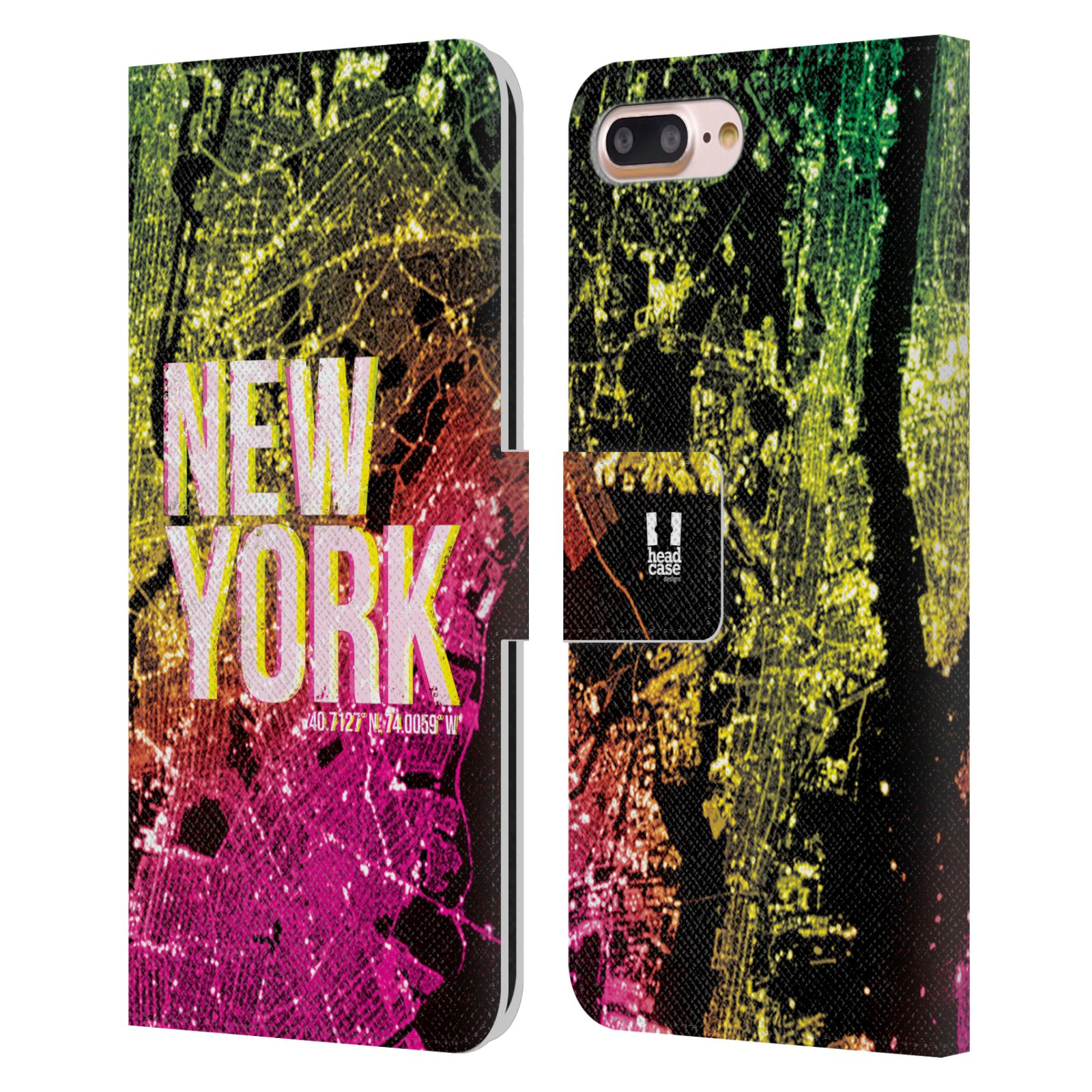 Pouzdro na mobil Apple Iphone 7 Plus / 8 Plus - Head Case - NEW YORK pohled z vesmíru