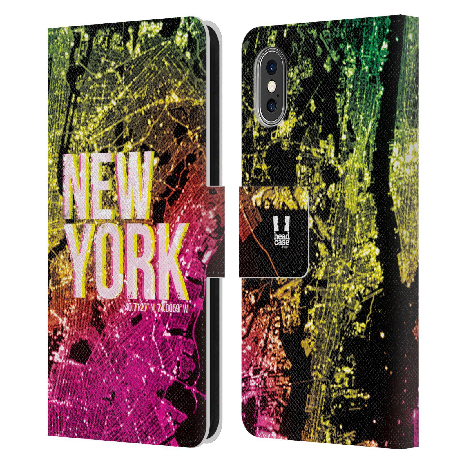 Pouzdro na mobil Apple Iphone X / XS - Head Case - NEW YORK pohled z vesmíru