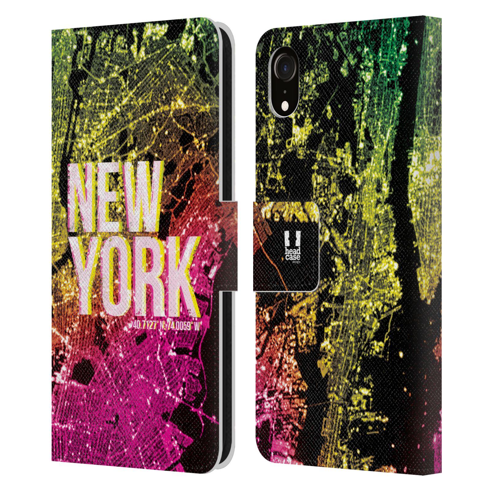 Pouzdro na mobil Apple Iphone XR - Head Case - NEW YORK pohled z vesmíru