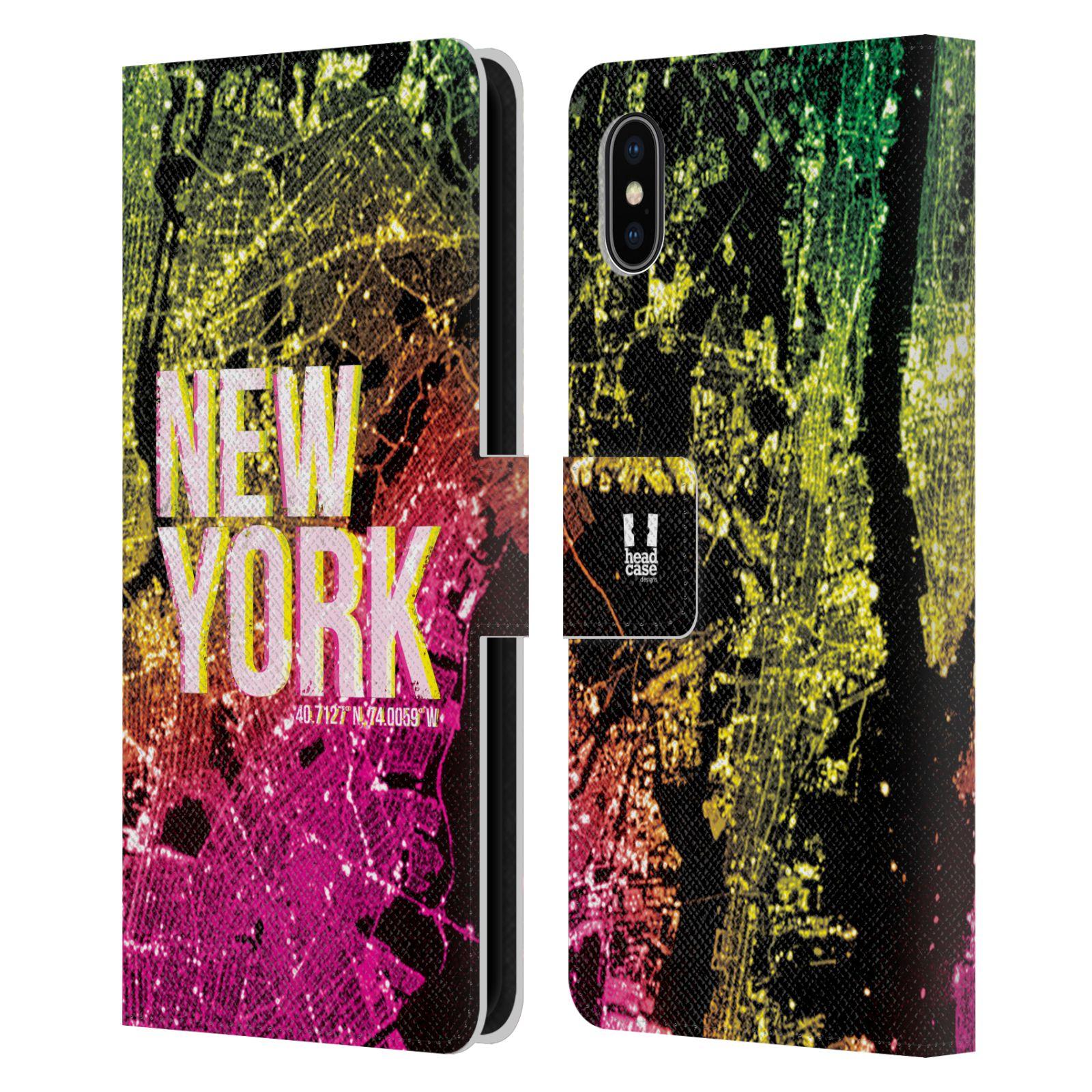Pouzdro na mobil Apple Iphone XS Max - Head Case - NEW YORK pohled z vesmíru