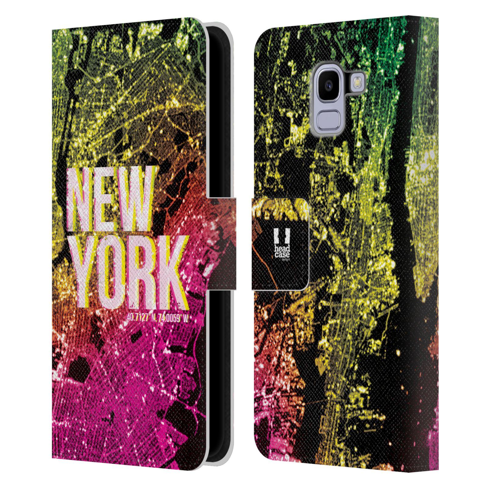 Pouzdro na mobil Samsung Galaxy J6 - Head Case - NEW YORK pohled z vesmíru