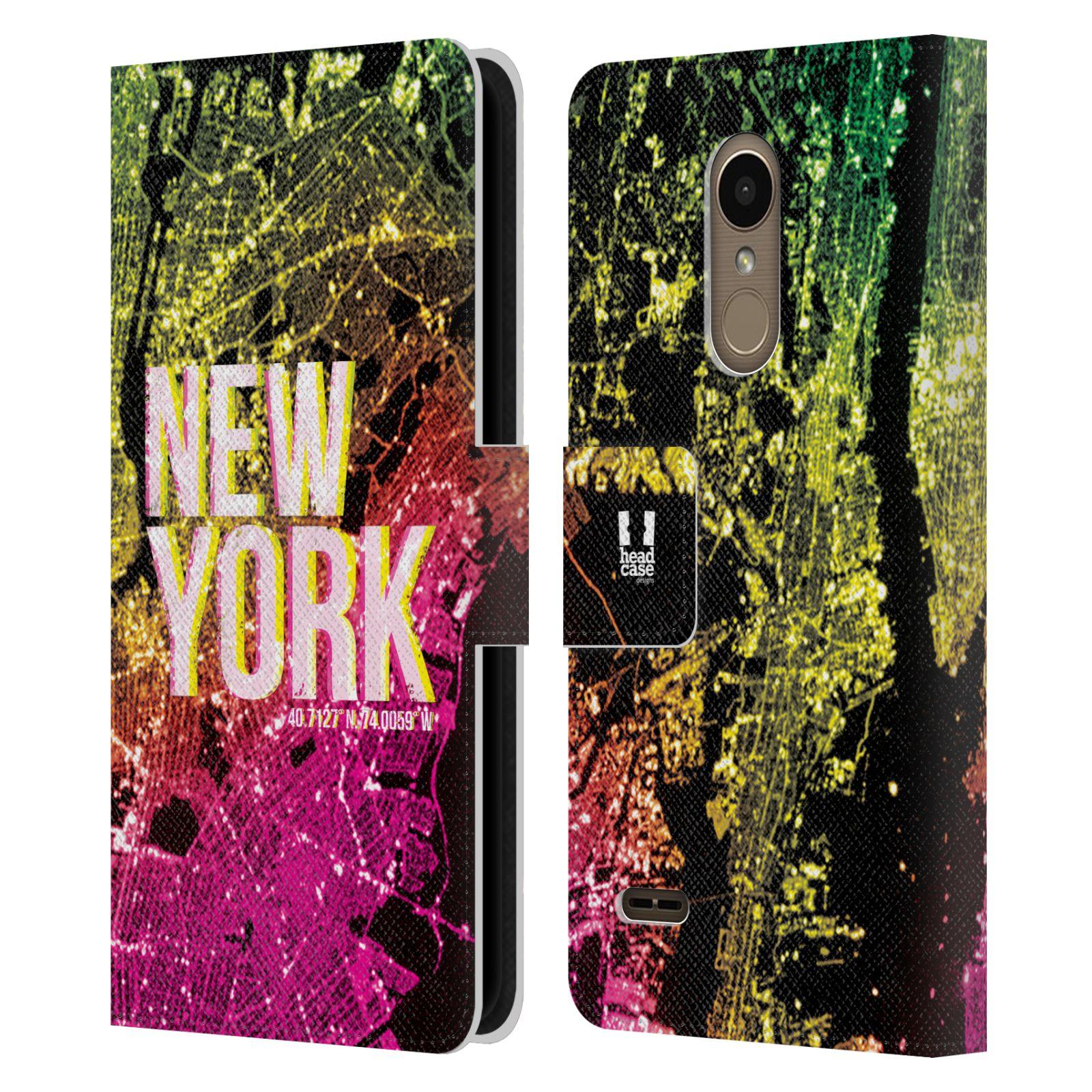 Pouzdro na mobil LG K11 - Head Case - NEW YORK pohled z vesmíru