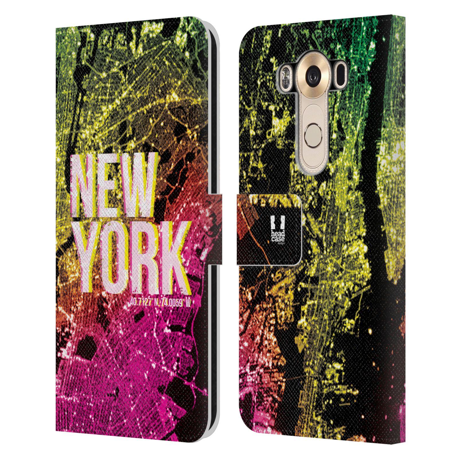 Pouzdro na mobil LG V10 - Head Case - NEW YORK pohled z vesmíru