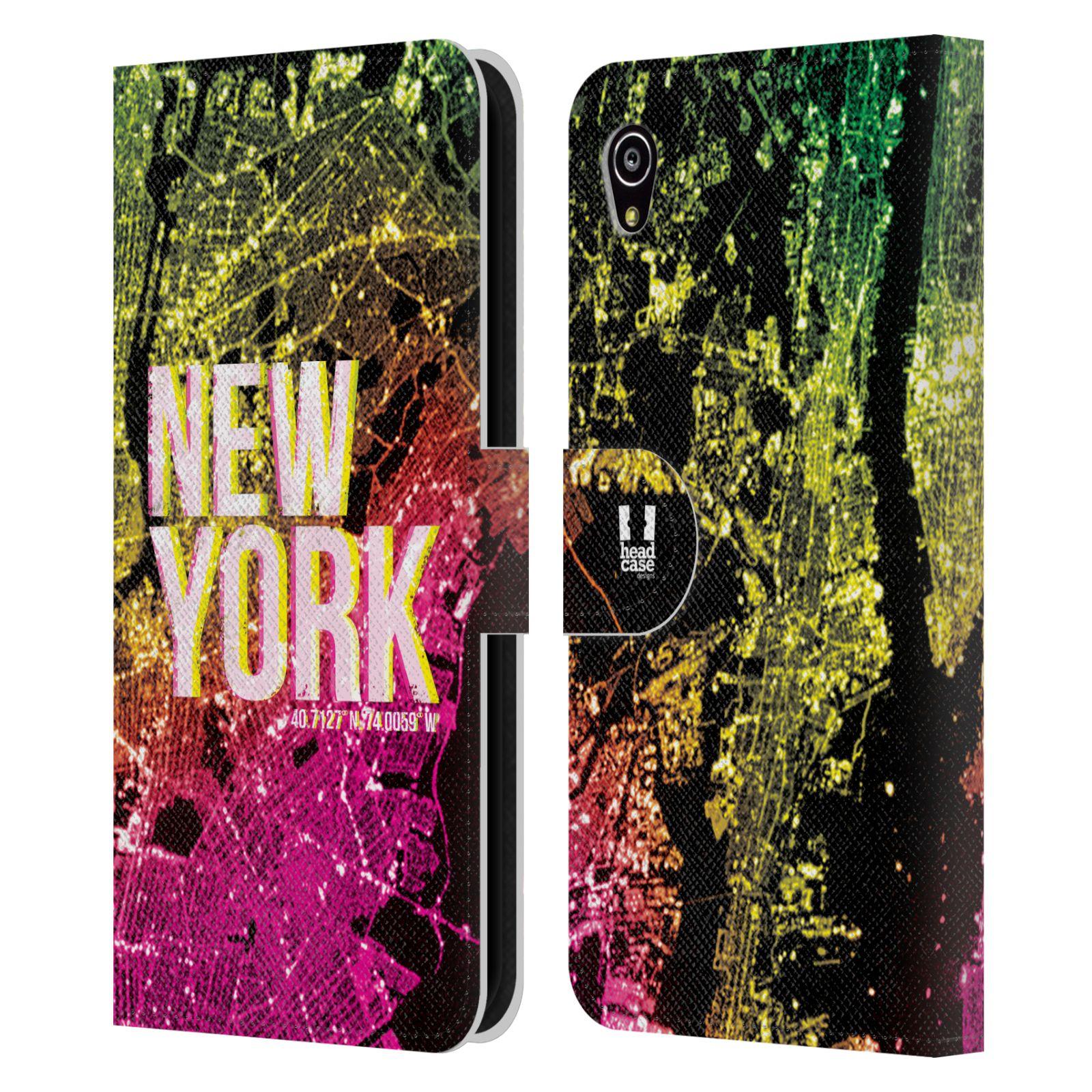 Pouzdro na mobil Sony Xperia M4 Aqua - Head Case - NEW YORK pohled z vesmíru