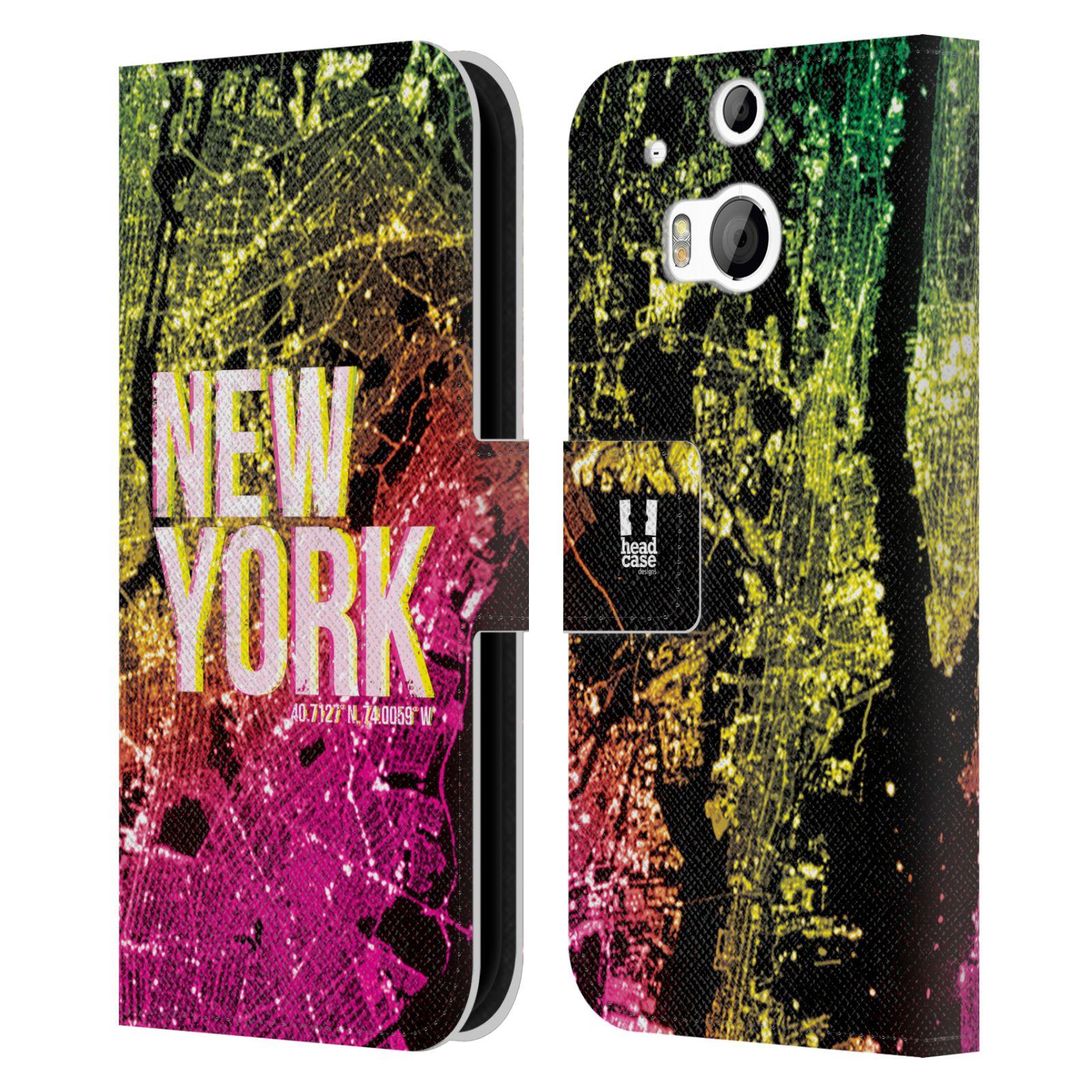 Pouzdro na mobil HTC One M8, M8s - Head Case - NEW YORK pohled z vesmíru