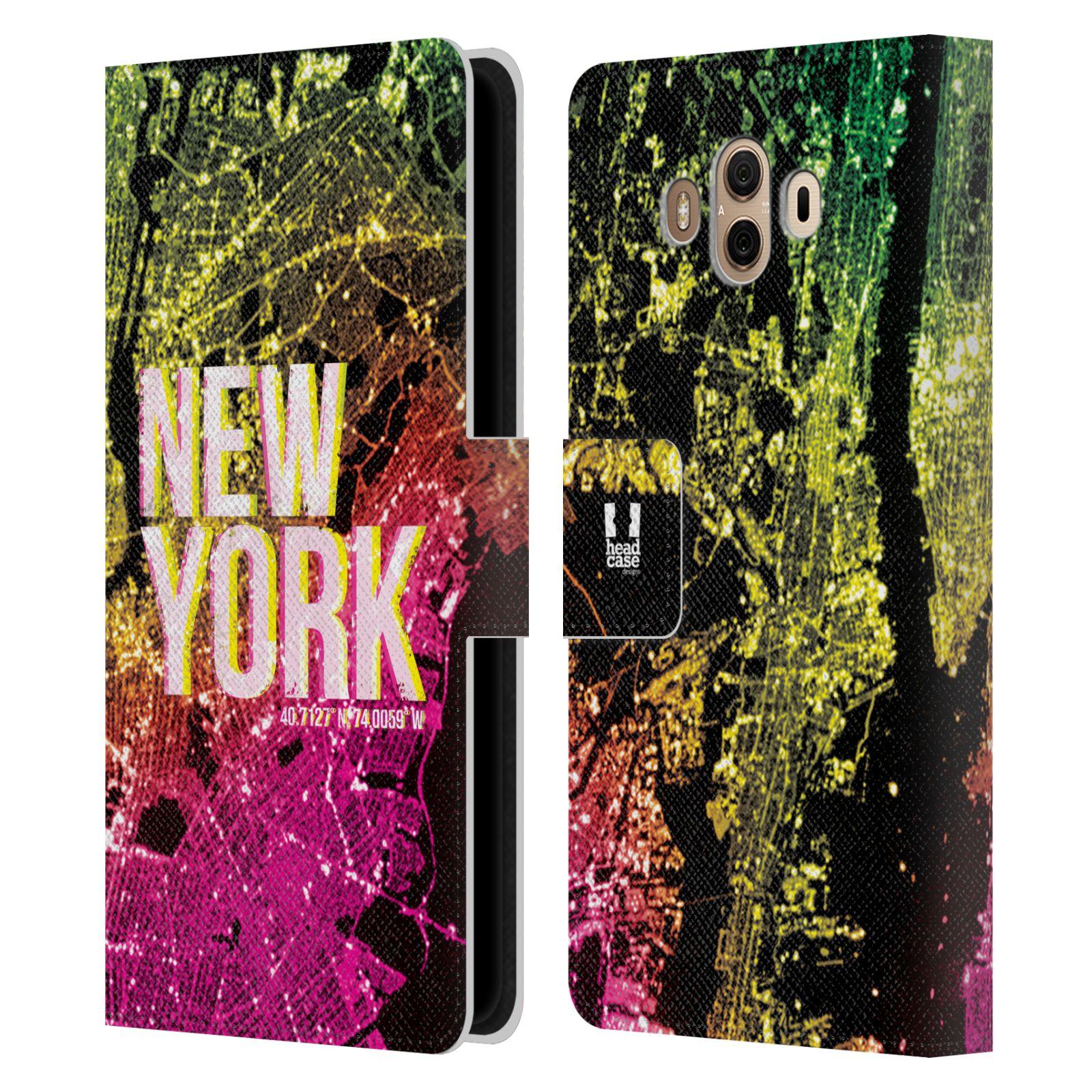 Pouzdro na mobil Huawei Mate 10 - Head Case - NEW YORK pohled z vesmíru