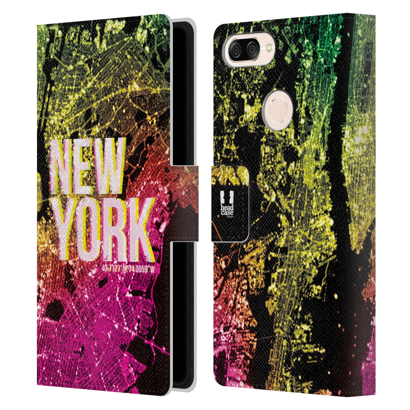 Pouzdro na mobil Asus Zenfone Max Plus (M1) ZB570TL - Head Case - NEW YORK pohled z vesmíru