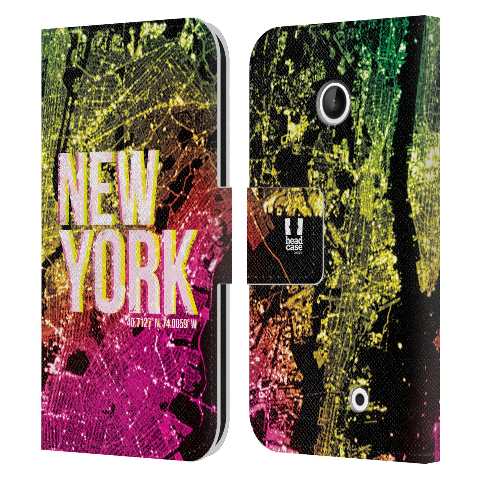 Pouzdro na mobil Nokia Lumia 630 - Head Case - NEW YORK pohled z vesmíru