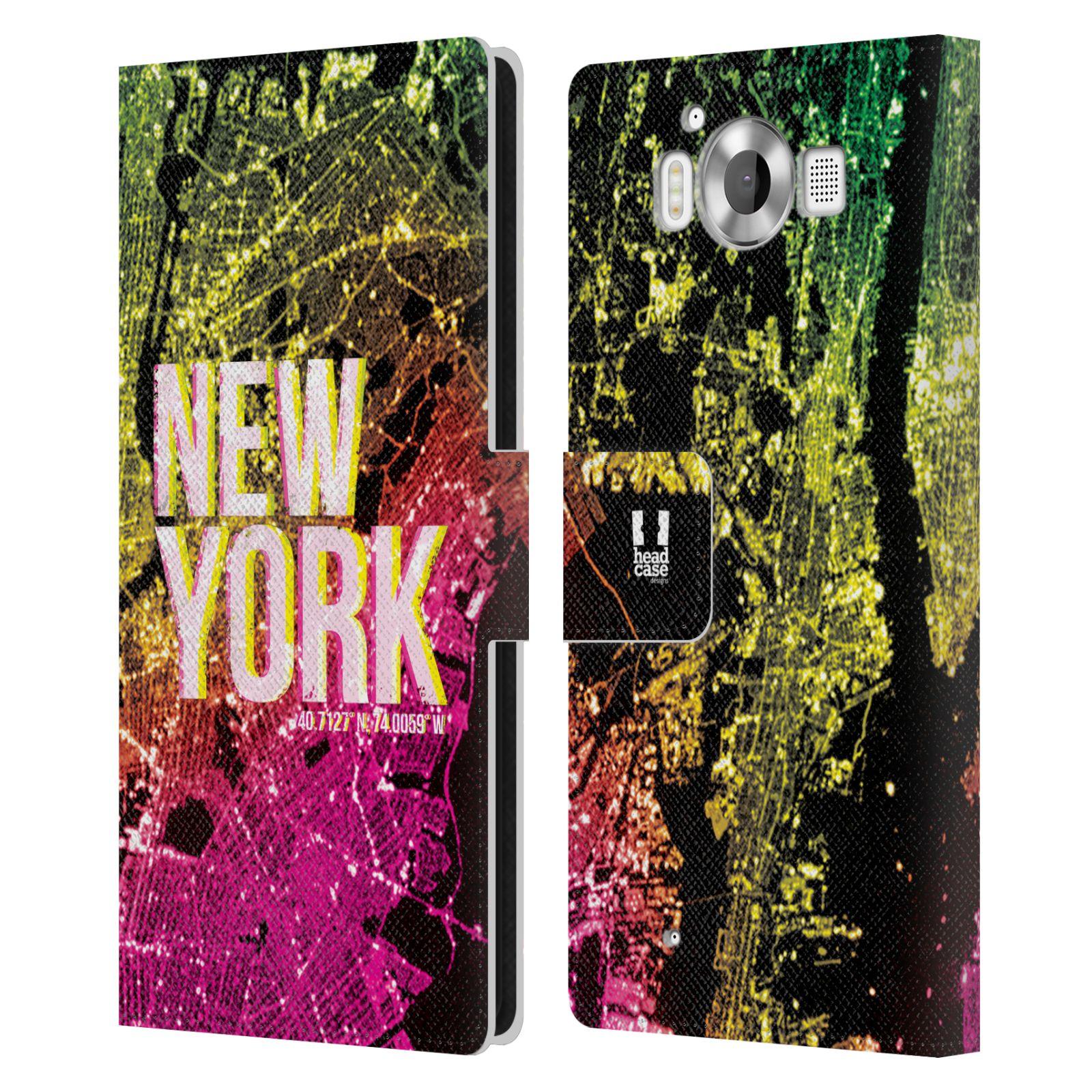 Pouzdro na mobil Nokia Lumia 950 - Head Case - NEW YORK pohled z vesmíru