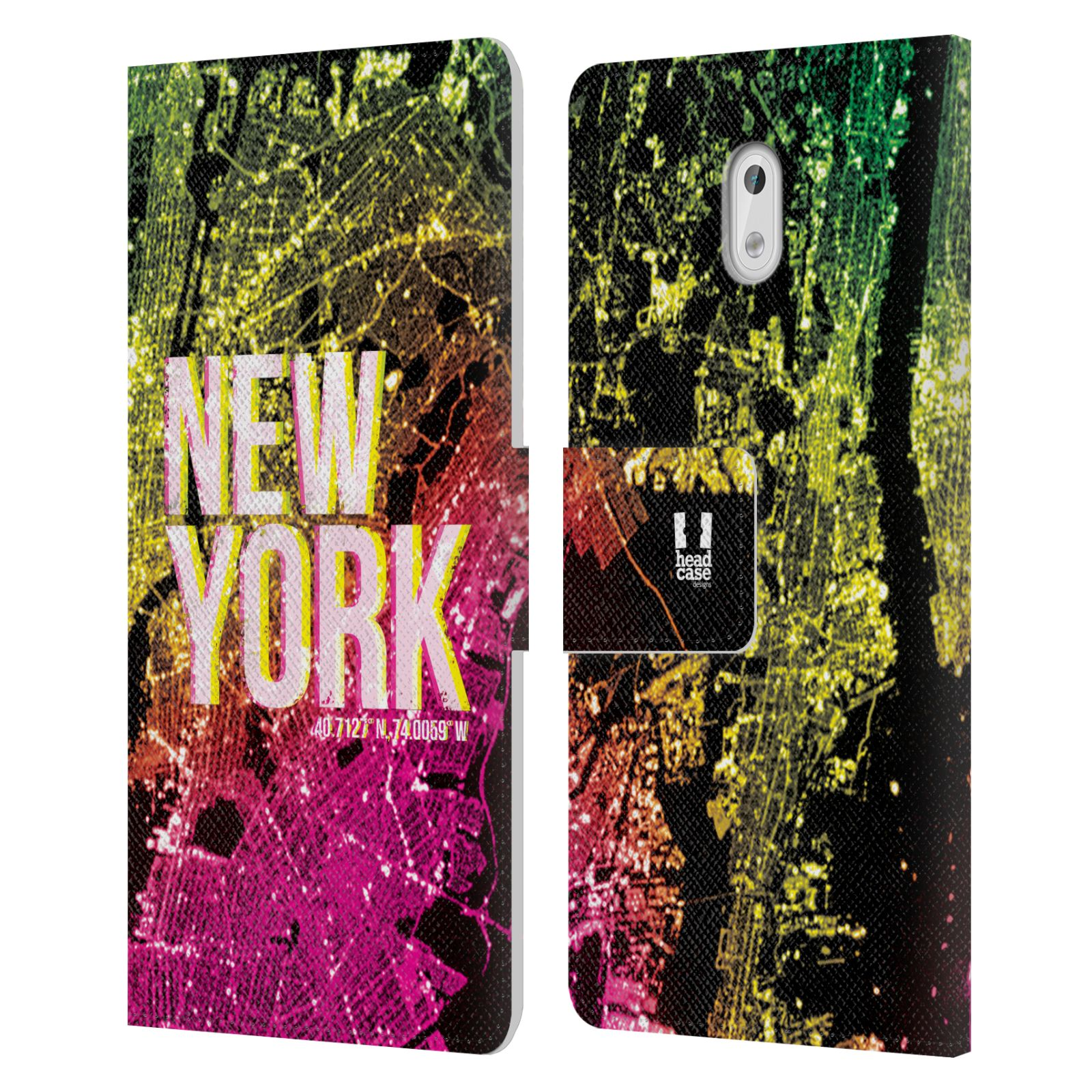 Pouzdro na mobil Nokia 3 - Head Case - NEW YORK pohled z vesmíru