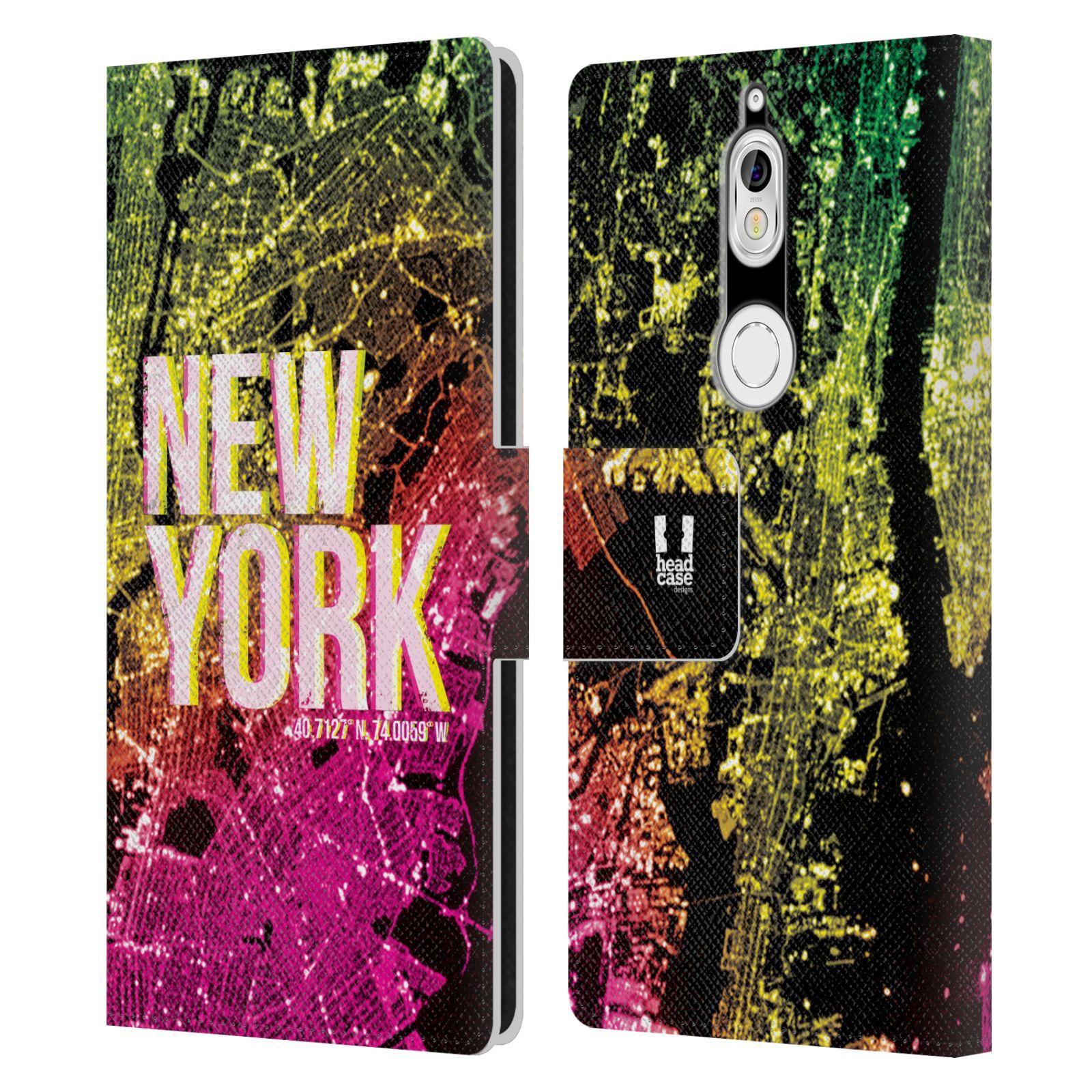 Pouzdro na mobil Nokia 7 - Head Case - NEW YORK pohled z vesmíru