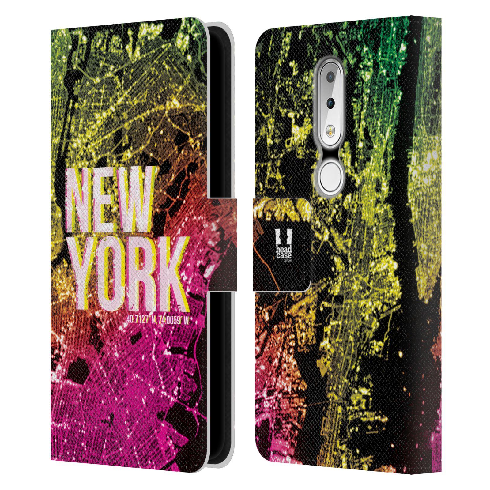 Pouzdro na mobil Nokia 6.1 Plus - Head Case - NEW YORK pohled z vesmíru