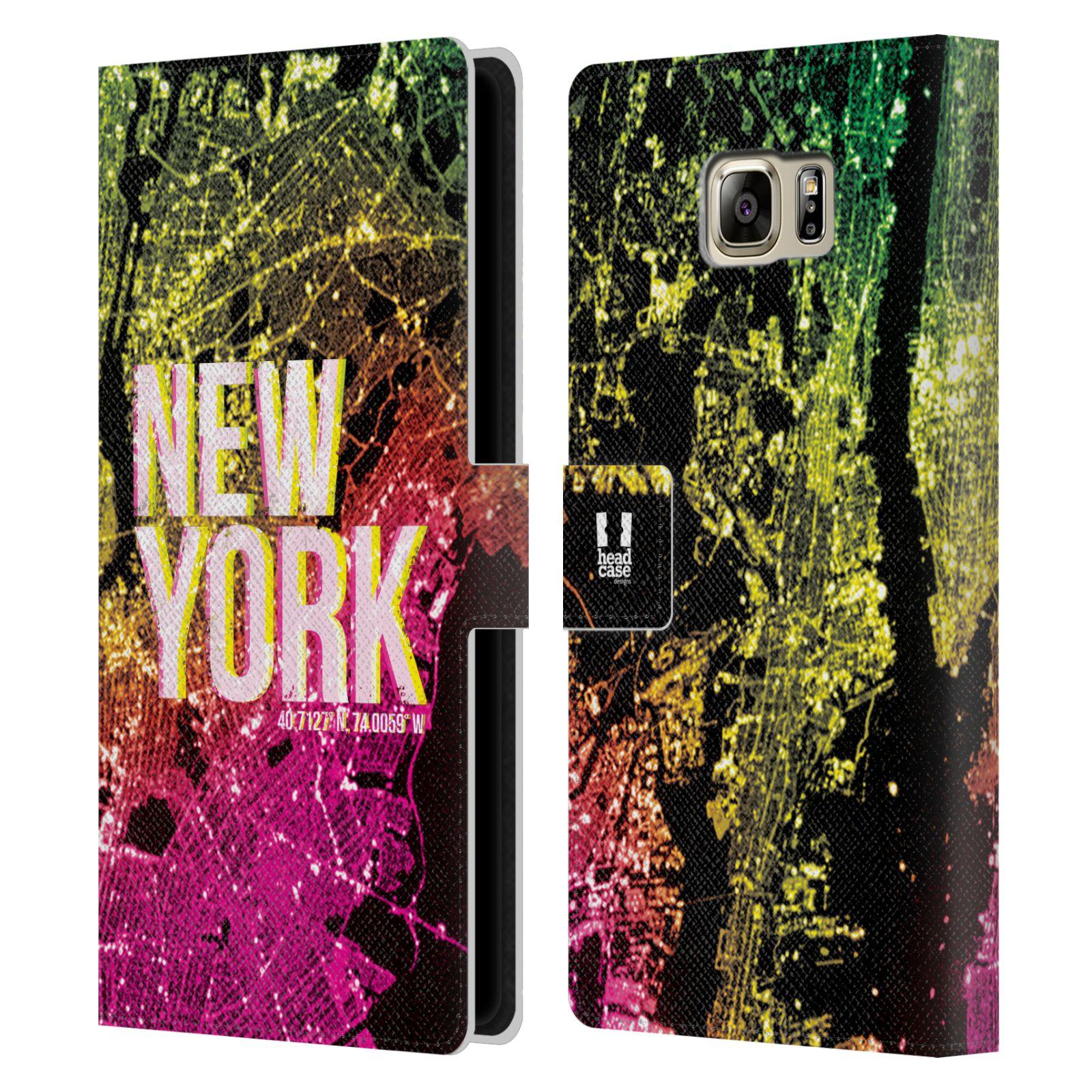 Pouzdro na mobil Samsung Galaxy NOTE 5 - Head Case - NEW YORK pohled z vesmíru