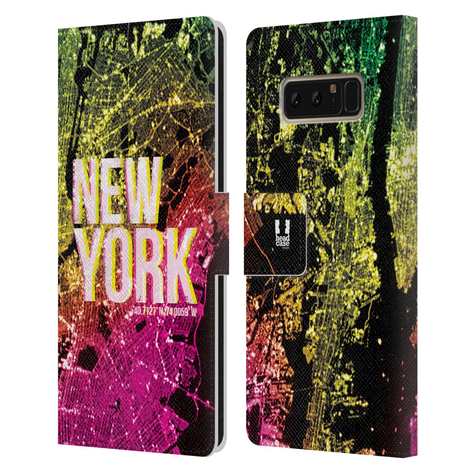 Pouzdro na mobil Samsung Galaxy NOTE 8 - Head Case - NEW YORK pohled z vesmíru