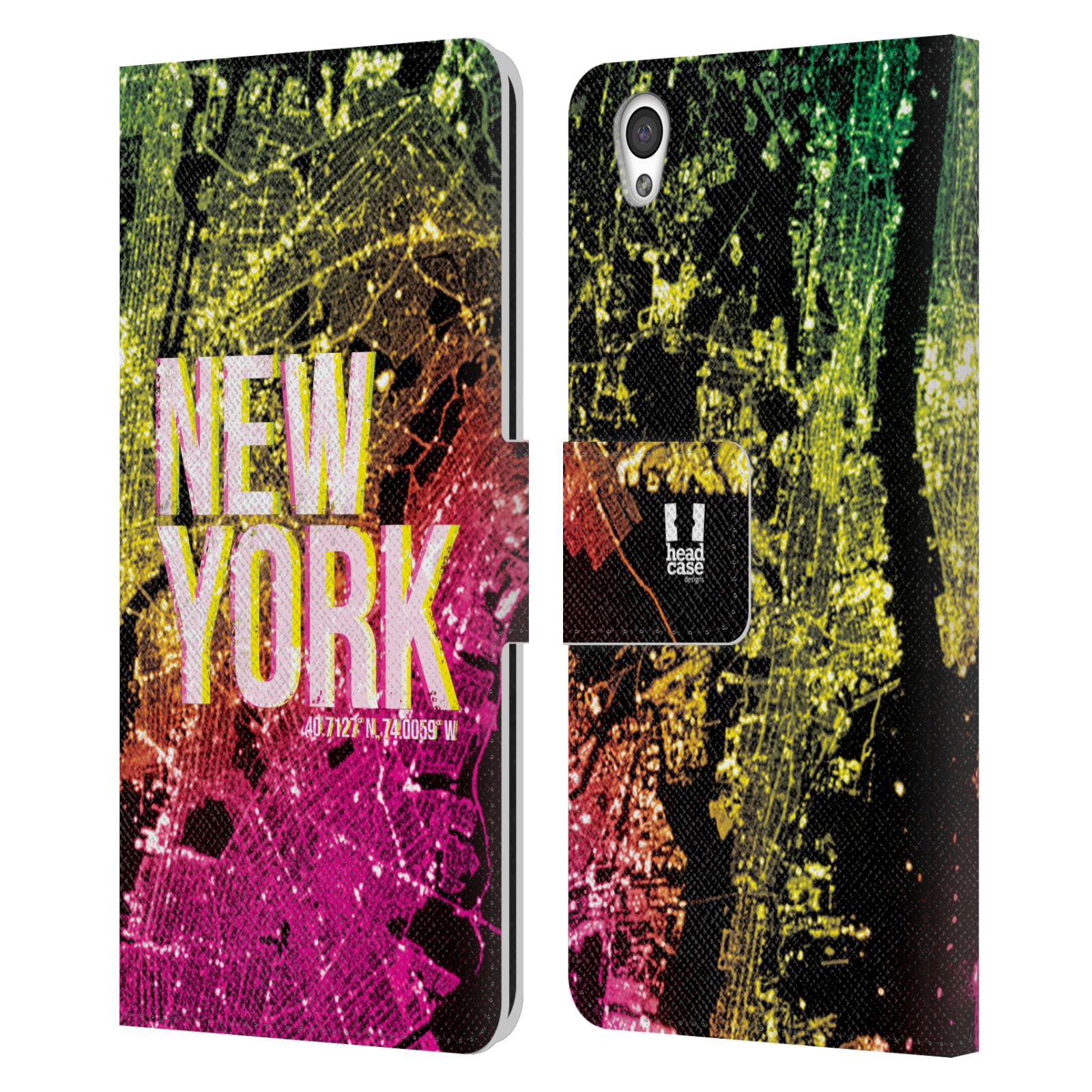 Pouzdro na mobil OnePlus X - Head Case - NEW YORK pohled z vesmíru