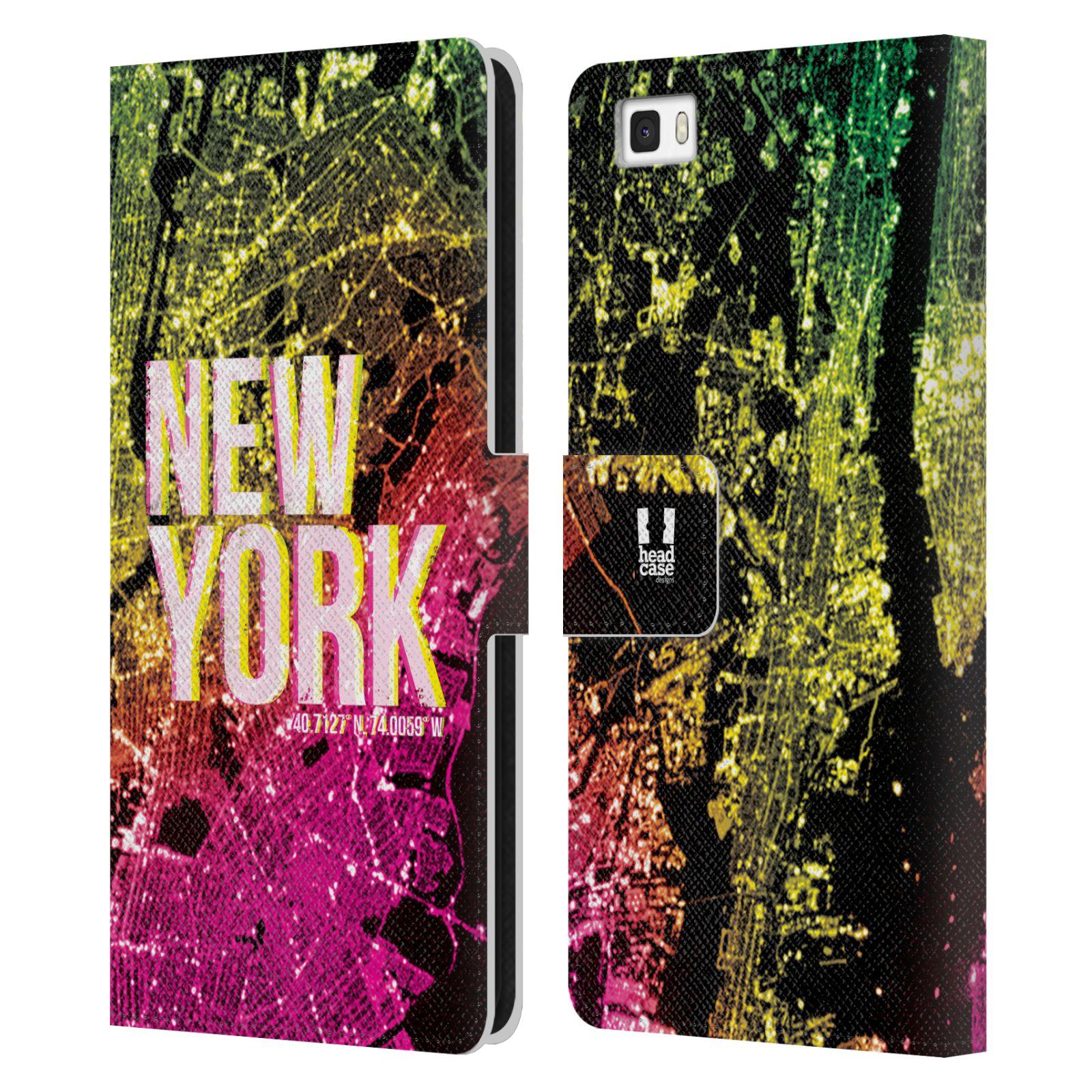Pouzdro na mobil Huawei P8 Lite - Head Case - NEW YORK pohled z vesmíru