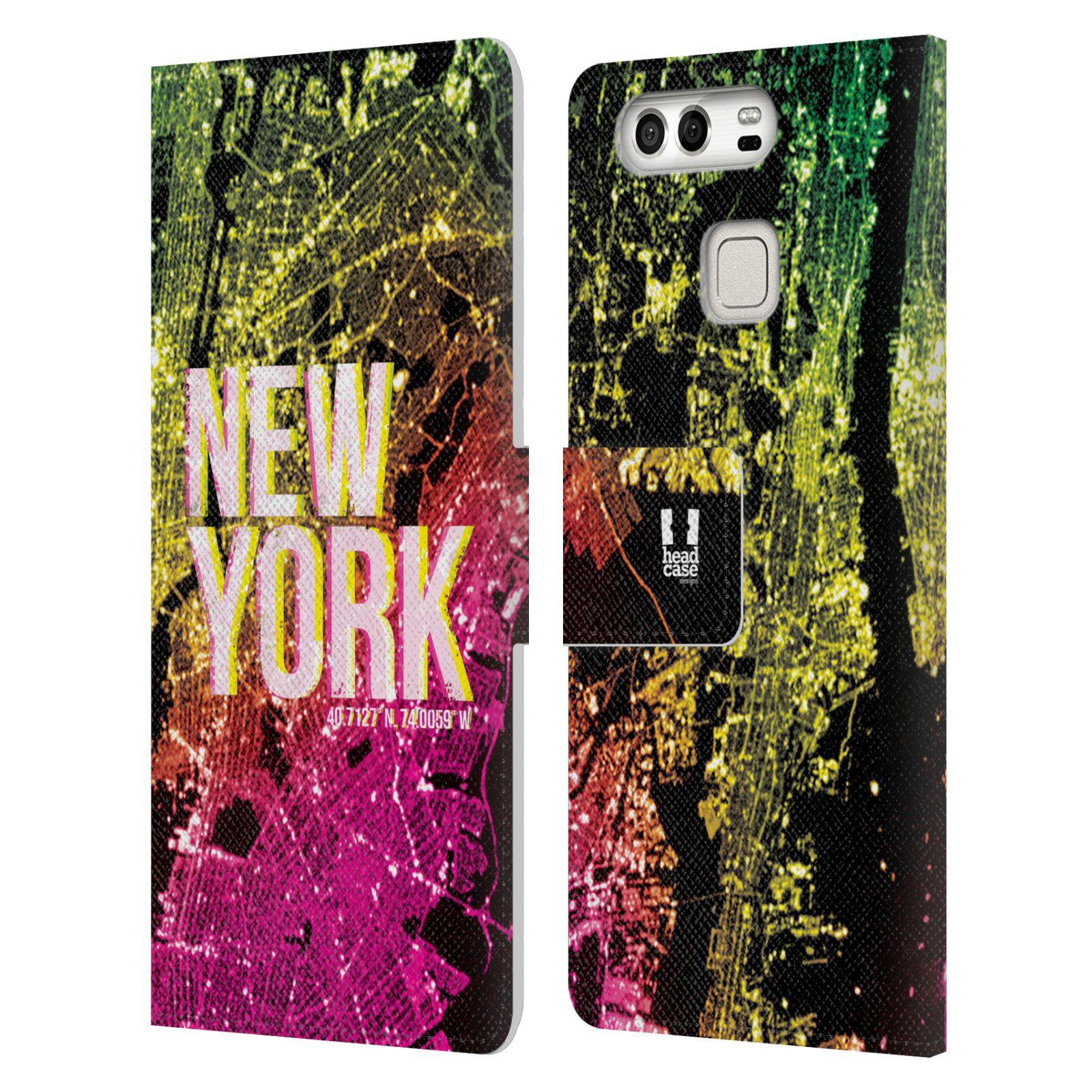 Pouzdro na mobil Huawei P9 - Head Case - NEW YORK pohled z vesmíru