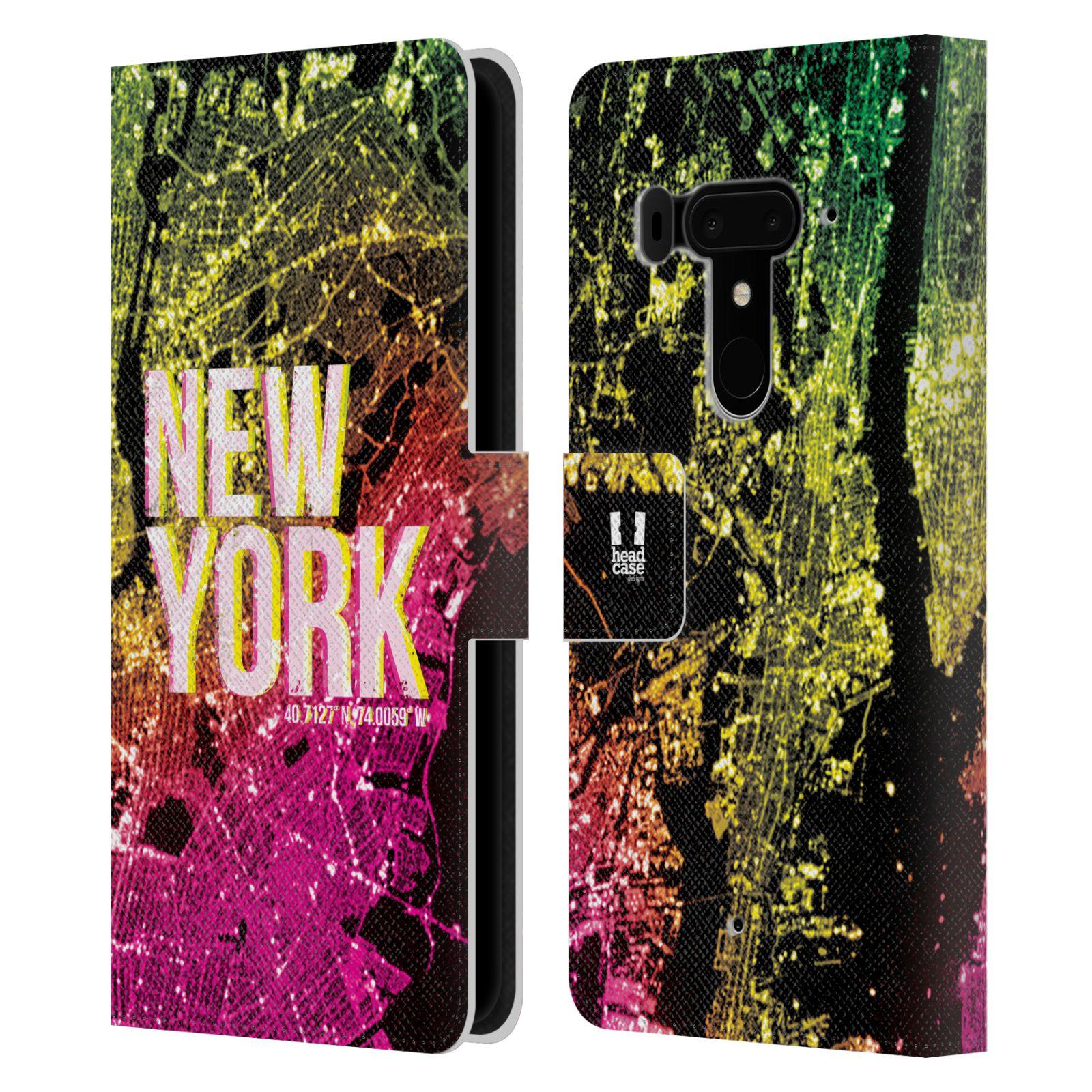 Pouzdro na mobil HTC U12 Plus - Head Case - NEW YORK pohled z vesmíru