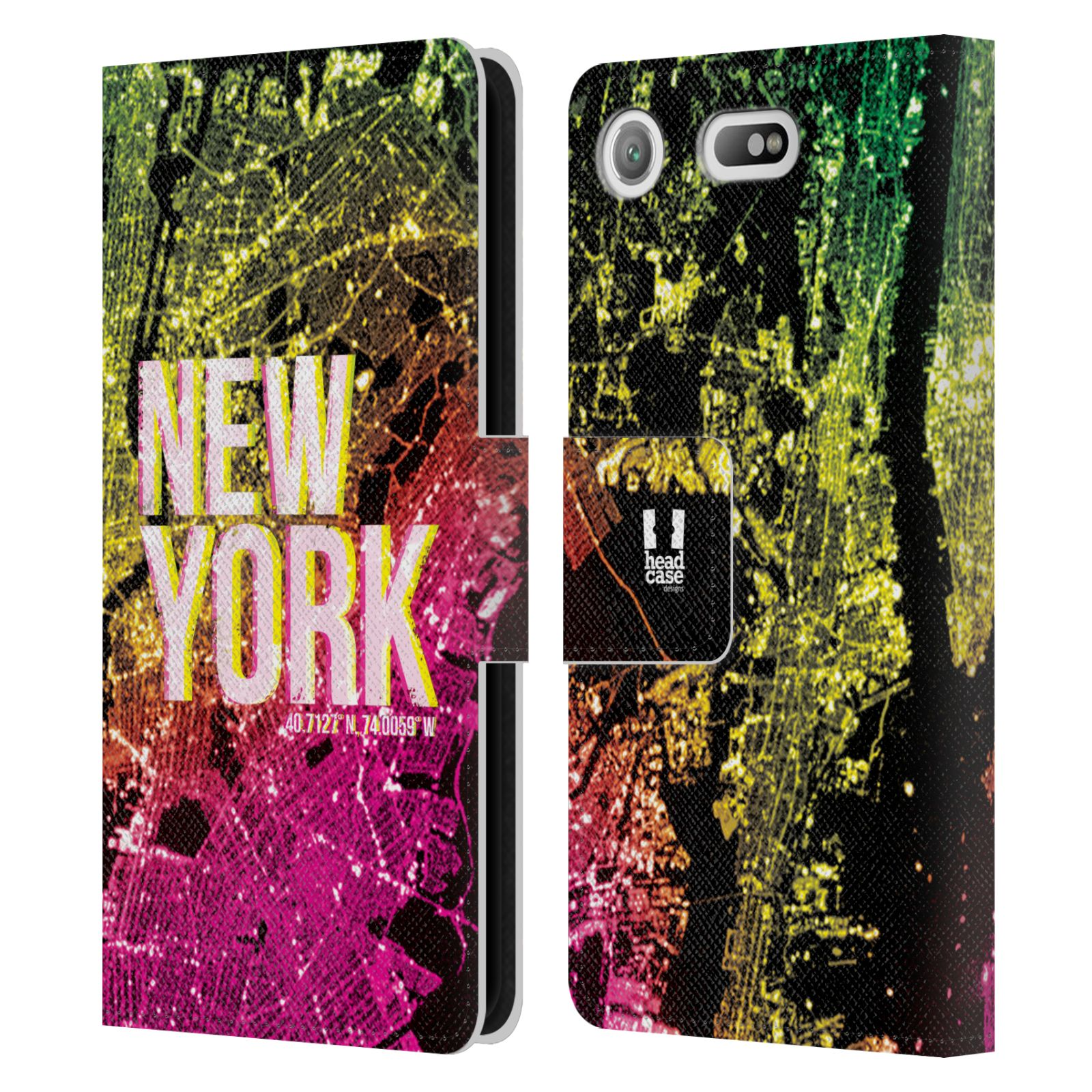 Pouzdro na mobil Sony Xperia XZ1 Compact - Head Case - NEW YORK pohled z vesmíru