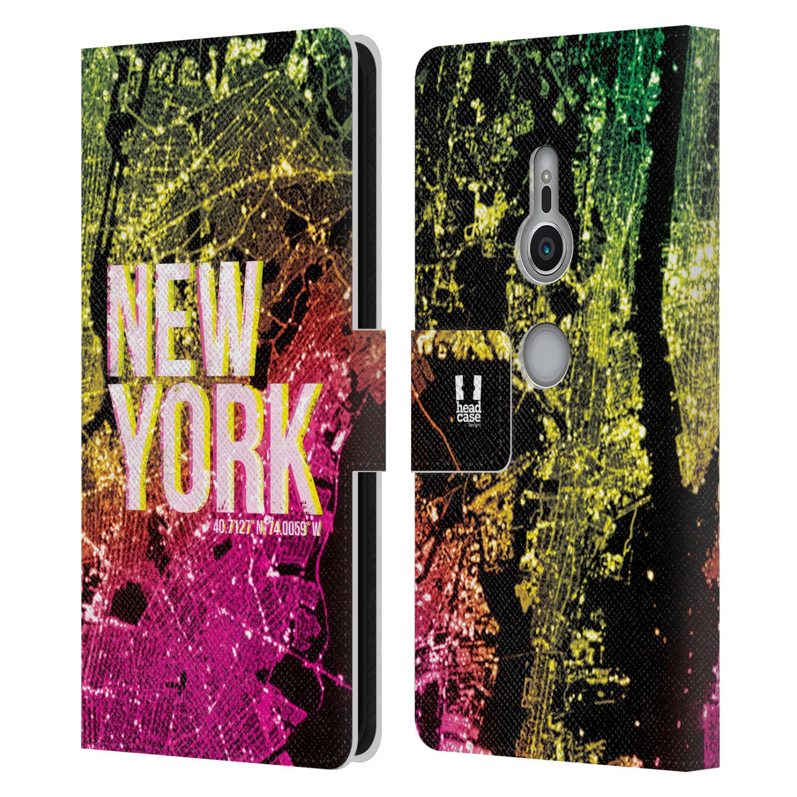 Pouzdro na mobil Sony Xperia XZ2 - Head Case - NEW YORK pohled z vesmíru