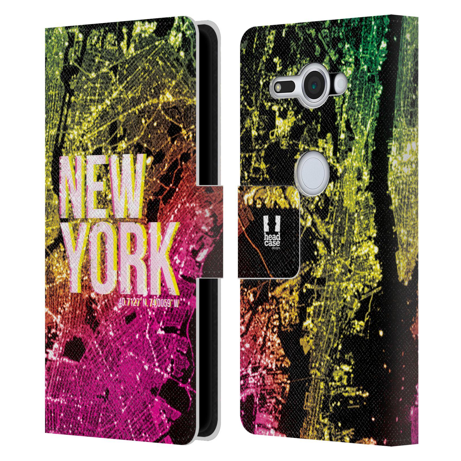 Pouzdro na mobil Sony Xperia XZ2 Compact - Head Case - NEW YORK pohled z vesmíru