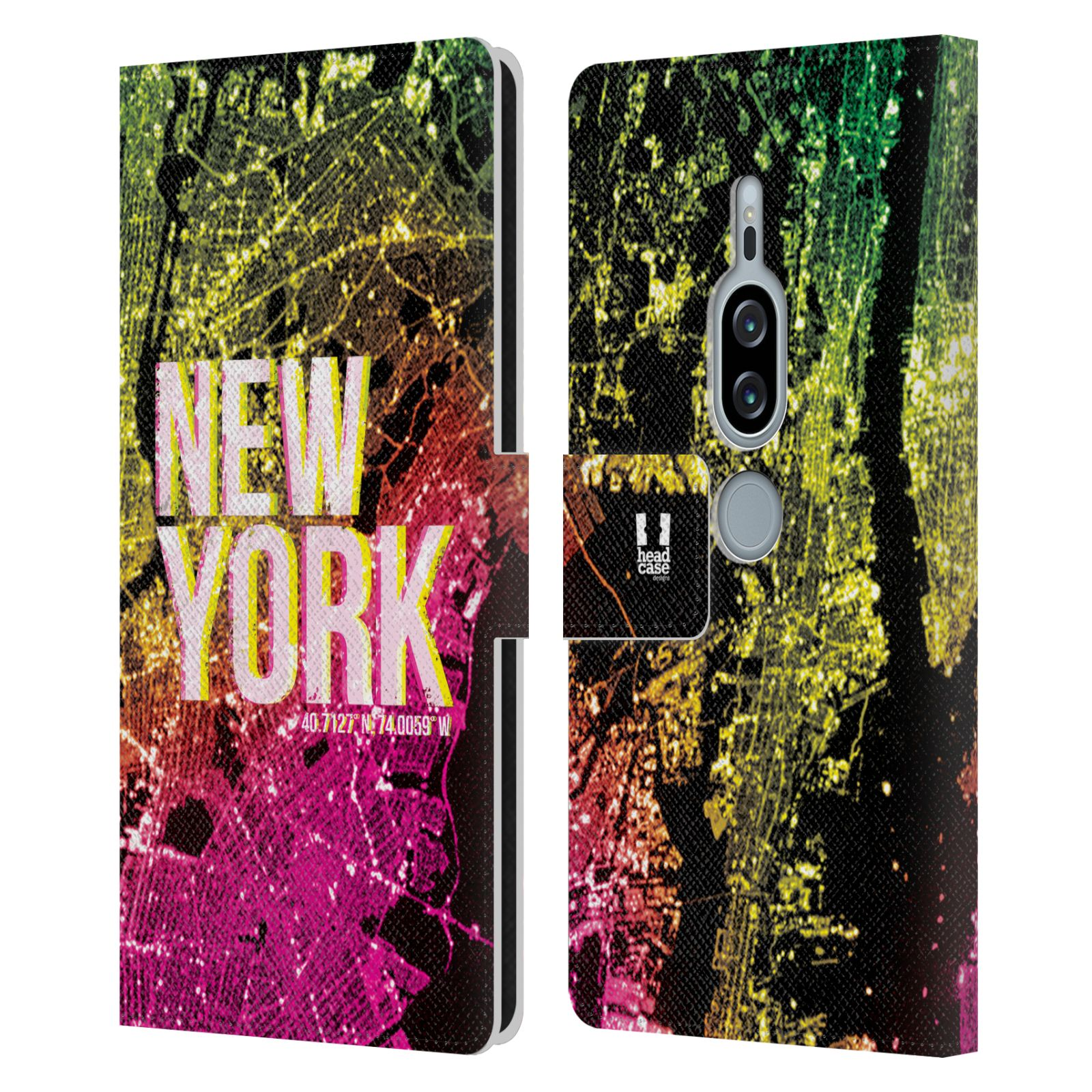 Pouzdro na mobil Sony Xperia XZ2 Premium - Head Case - NEW YORK pohled z vesmíru