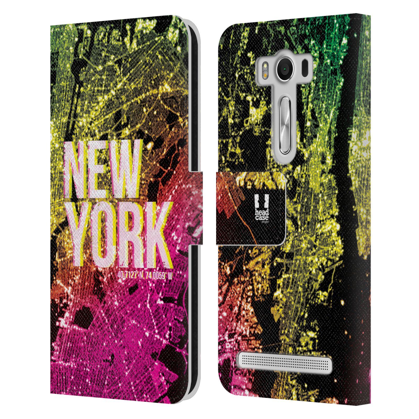 Pouzdro na mobil Asus Zenfone 2 Laser ZE500KL - Head Case - NEW YORK pohled z vesmíru