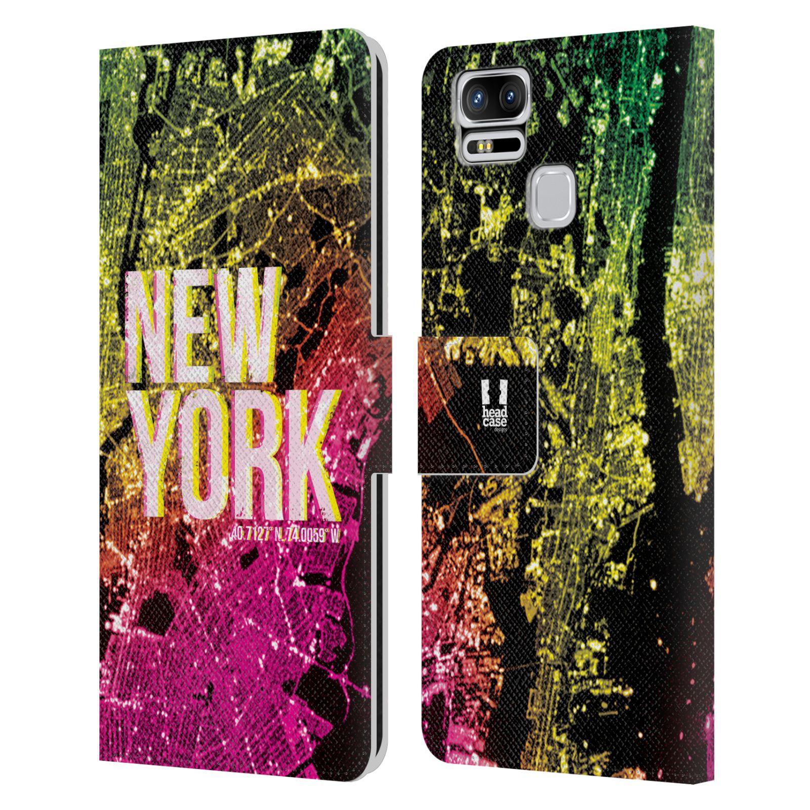 Pouzdro na mobil Asus Zenfone 3 Zoom ZE553KL - Head Case - NEW YORK pohled z vesmíru
