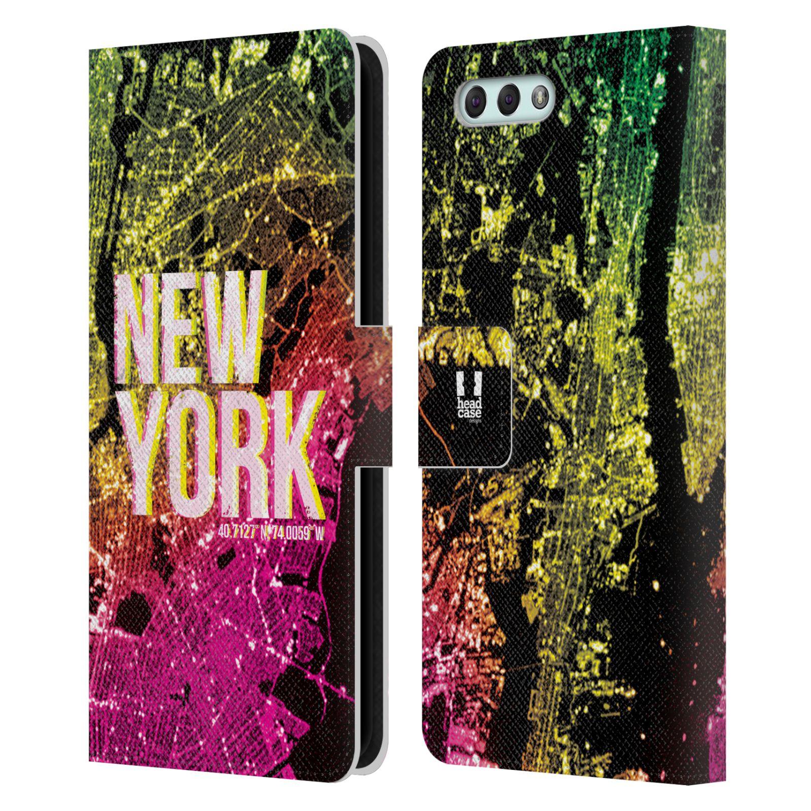 Pouzdro na mobil Asus Zenfone 4 ZE554KL - Head Case - NEW YORK pohled z vesmíru