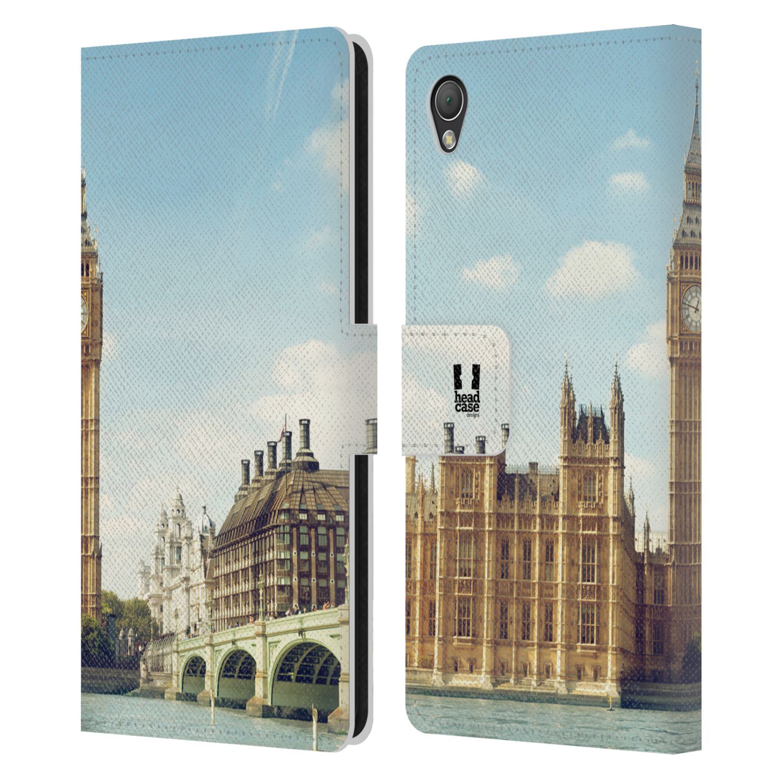HEAD CASE DESIGNS CITY SKYLINES LEATHER BOOK WALLET CASE COVER FOR SONY PHONES 1