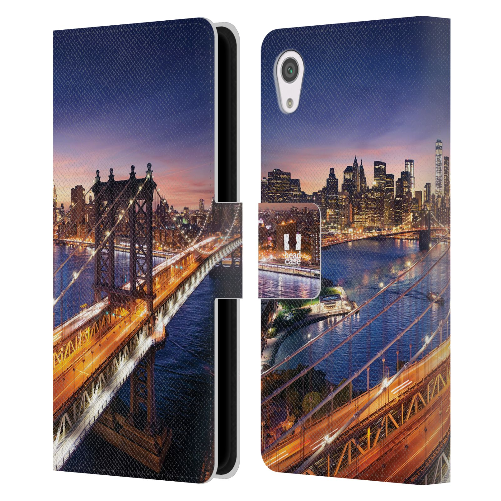 Pouzdro na mobil Sony Xperia XA1 - Head Case - New York Brooklynský most